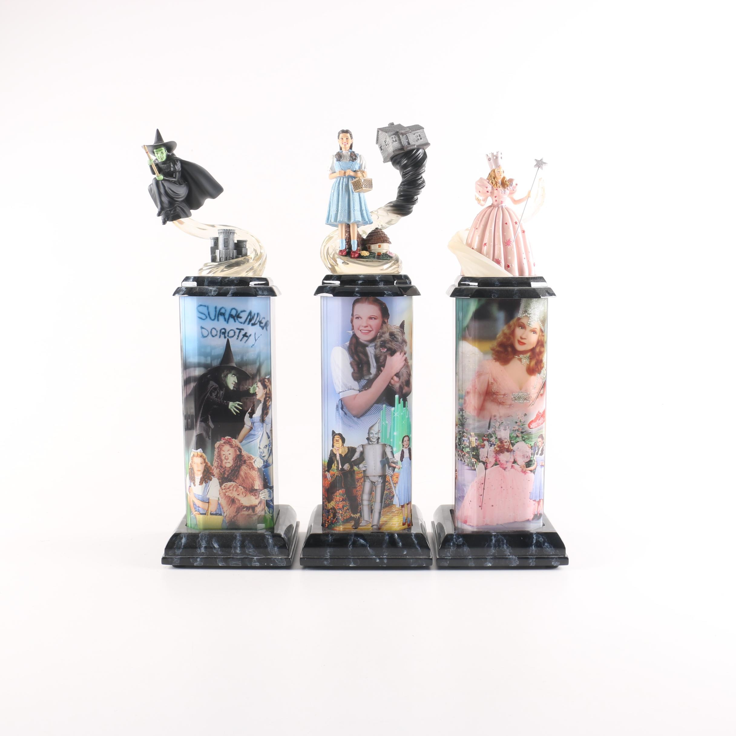 Limited Edition Bradford Exchange Lighted Wizard of Oz Figurines