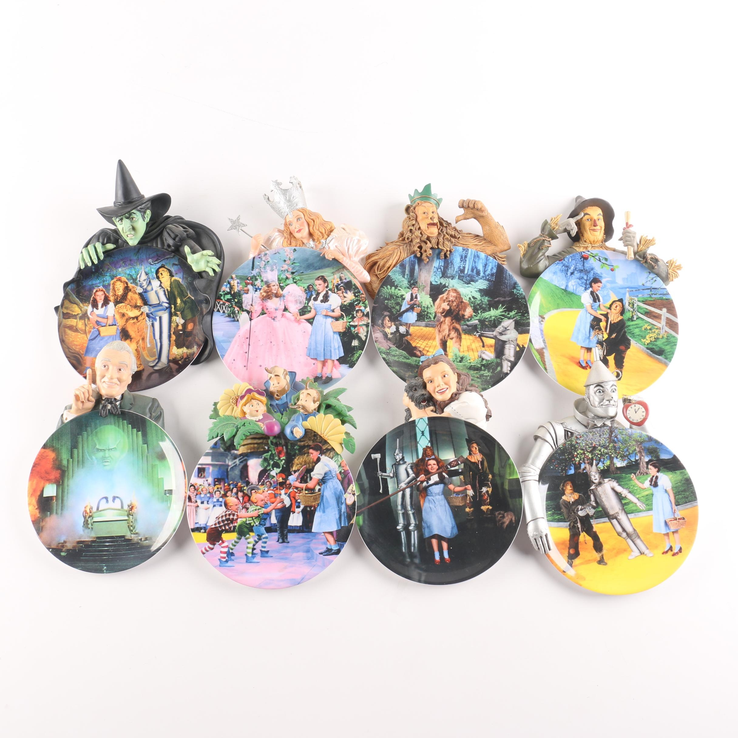 "Bradford Exchange ""Adventures In Oz"" Plates With Attached Figures"