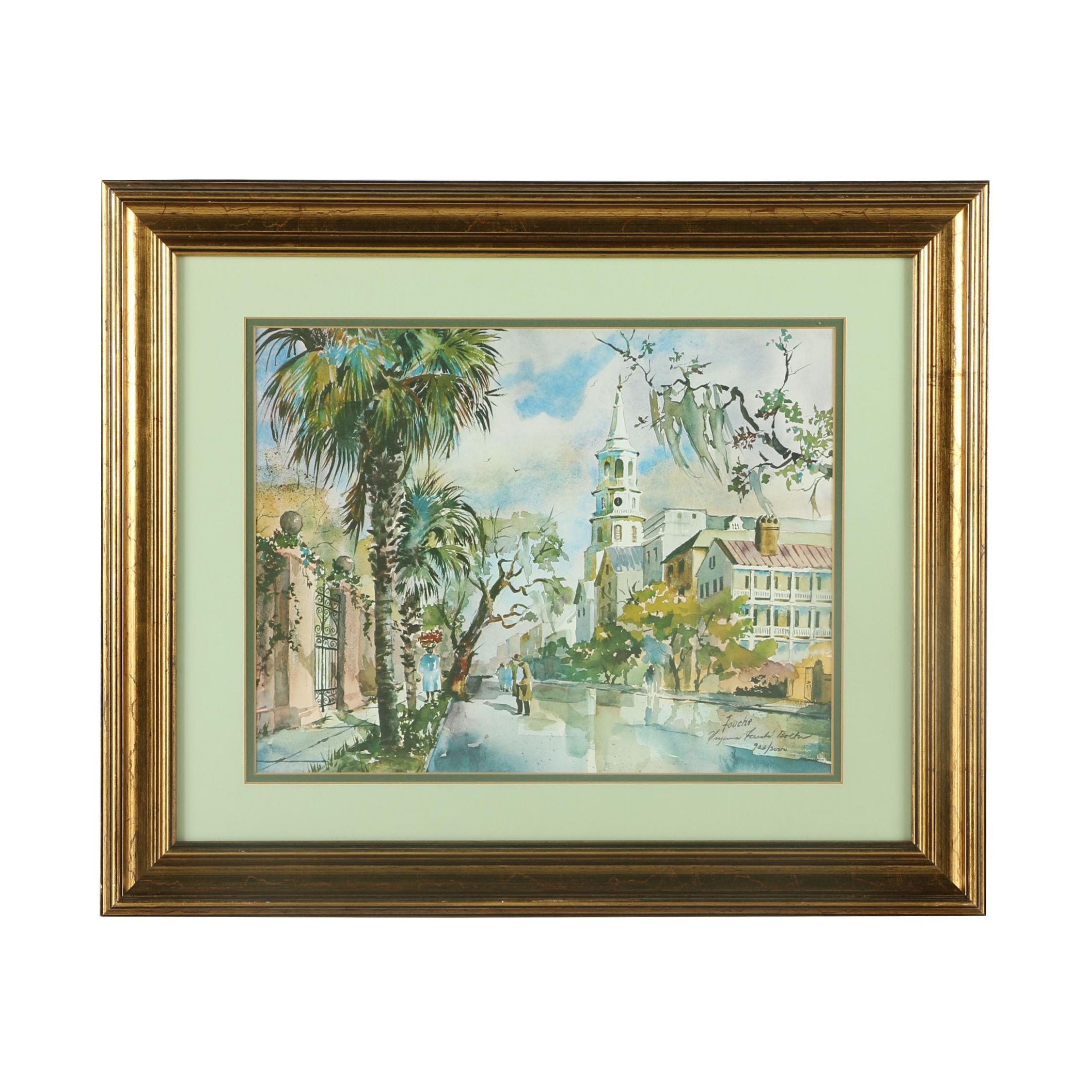 Virginia Fouche Bolton Limited Edition Offset Lithograph Print