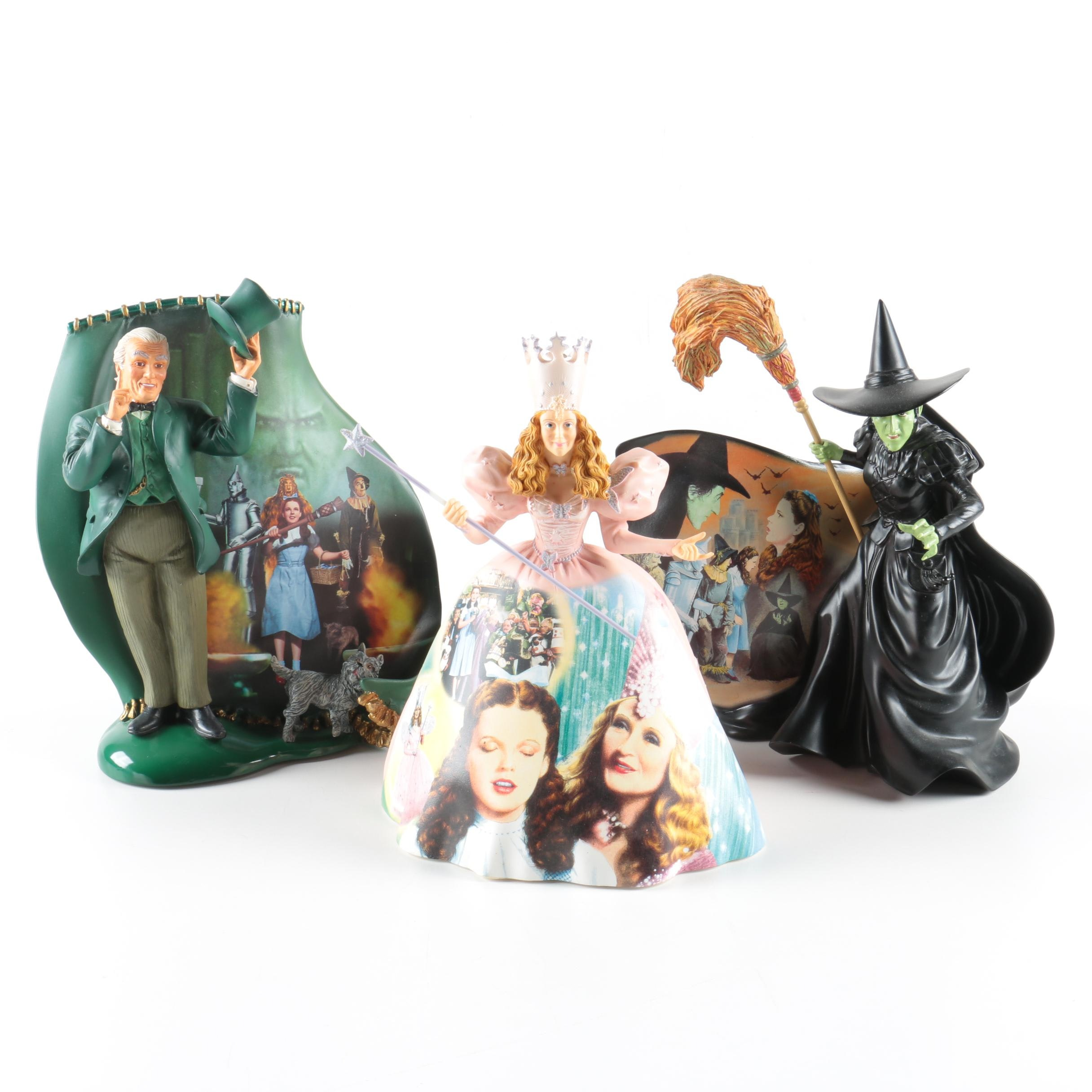 Limited Edition Bradford Exchange Resin Wizard of Oz Figurines