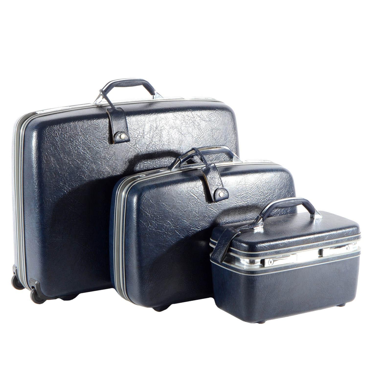 Three Vintage Hardshell Samsonite Suitcases