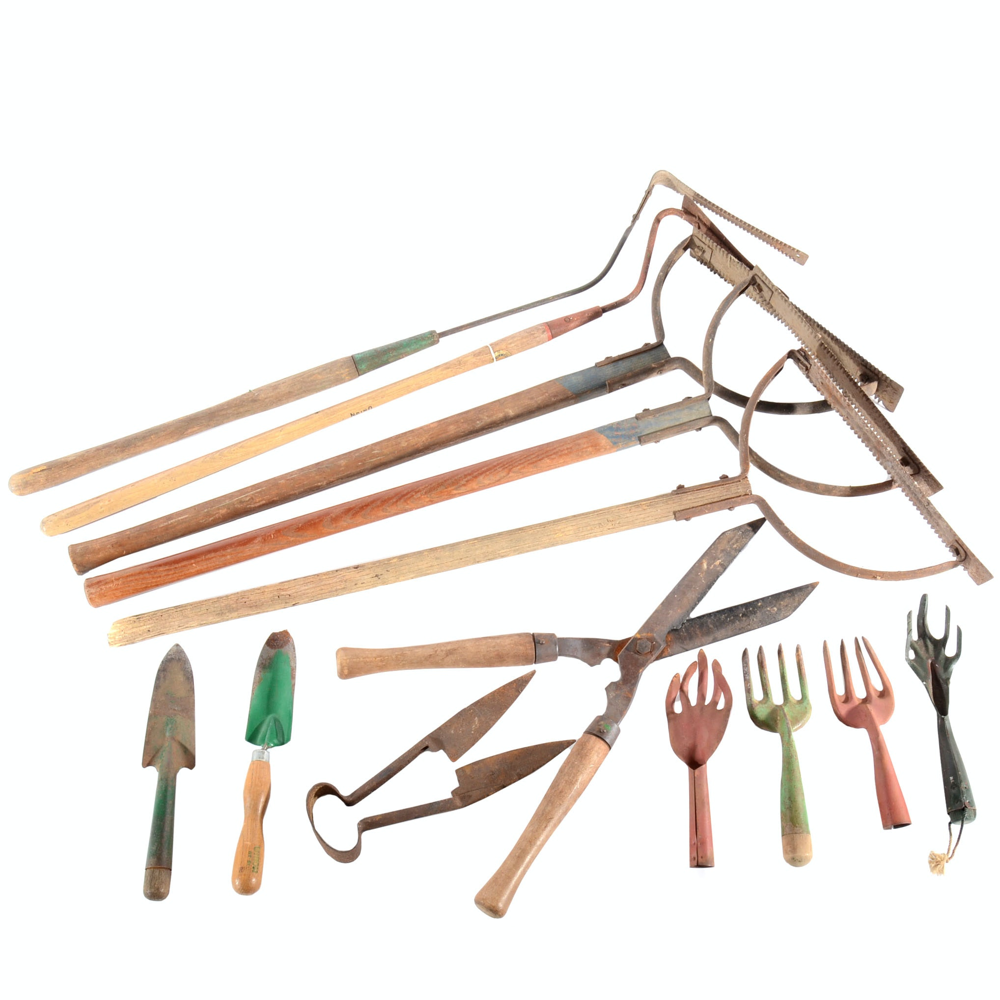 Collection of Vintage and Antique Garden Tools
