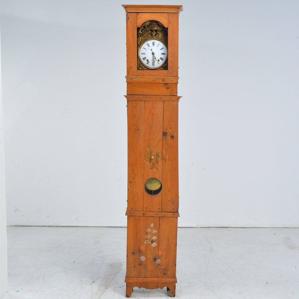 Vintage Wood Cased Grandfather Clock