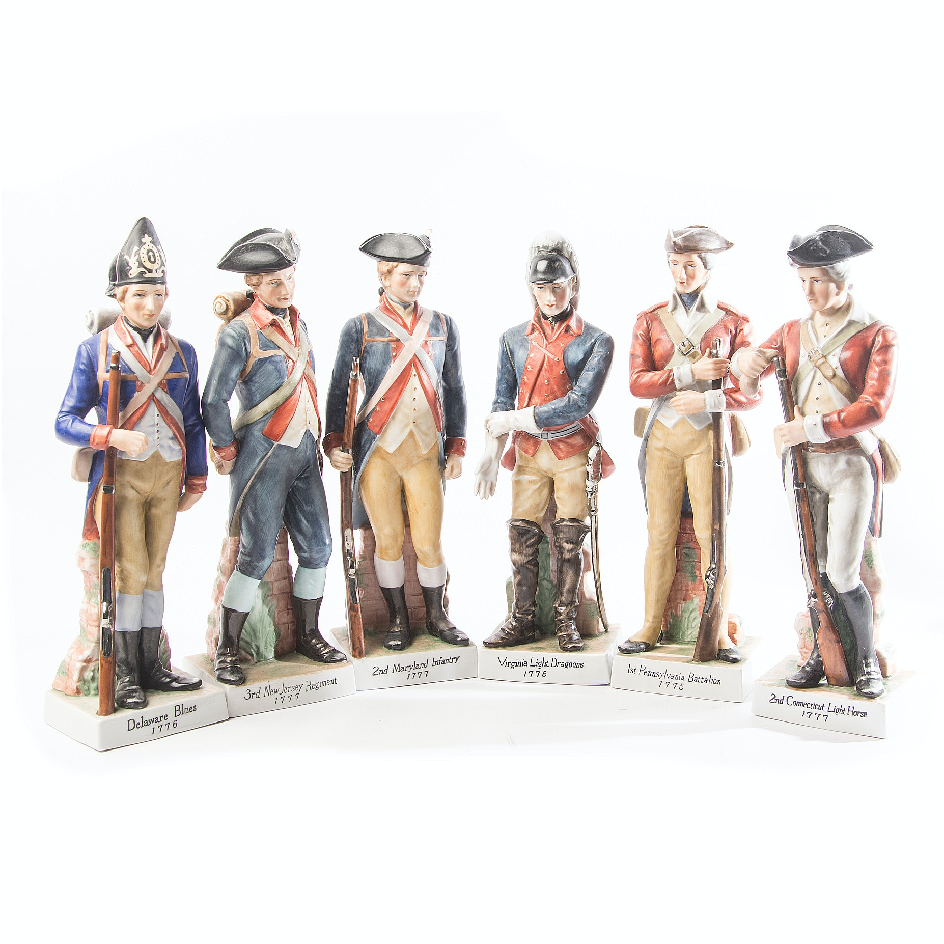 Porcelain Andrea by Sadek Revolutionary War Soldier Figurines