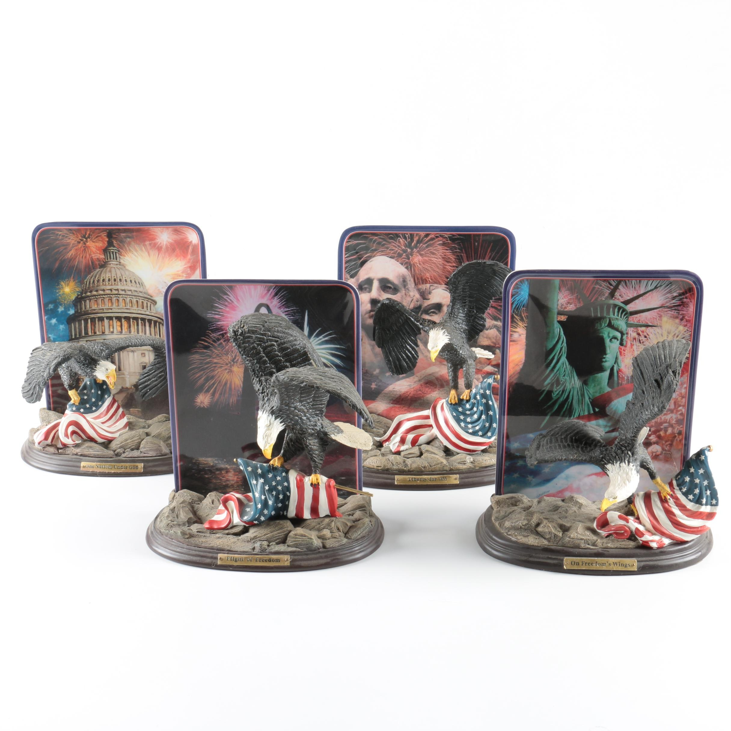 "Bradford Exchange ""Celebrating America's Glory"" Plate and Figurine Sets"