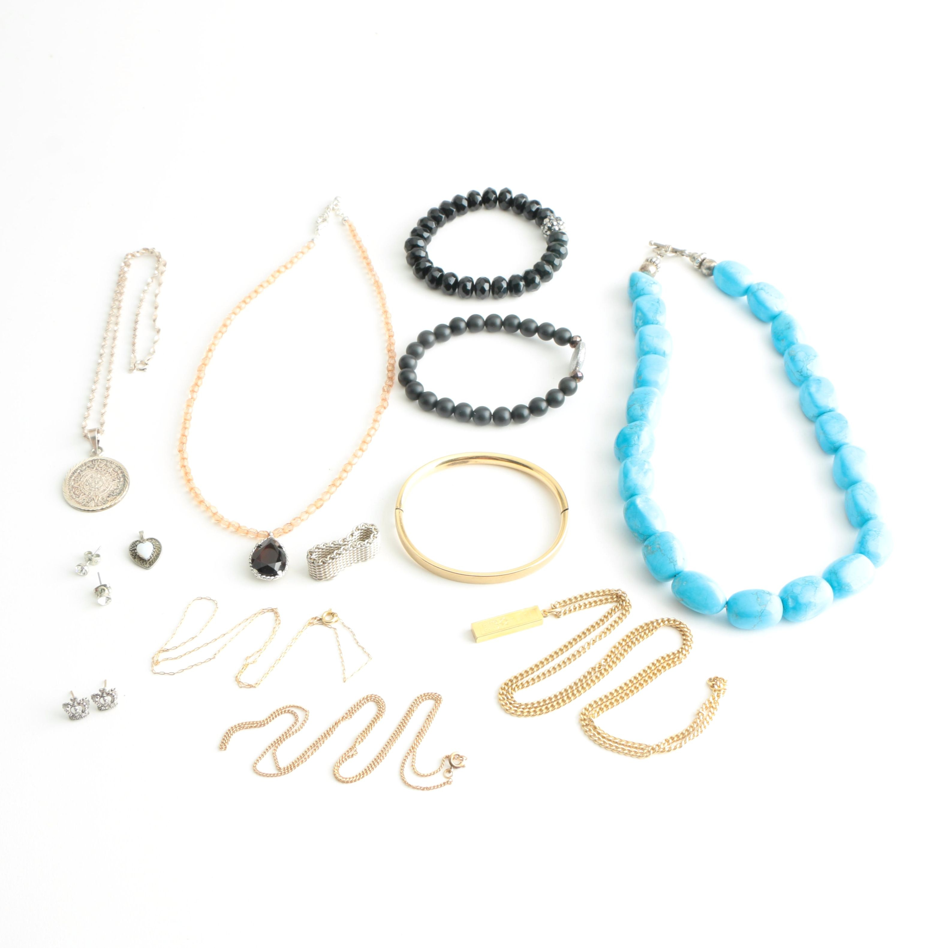 Collection of Jewelry Including Sterling Silver