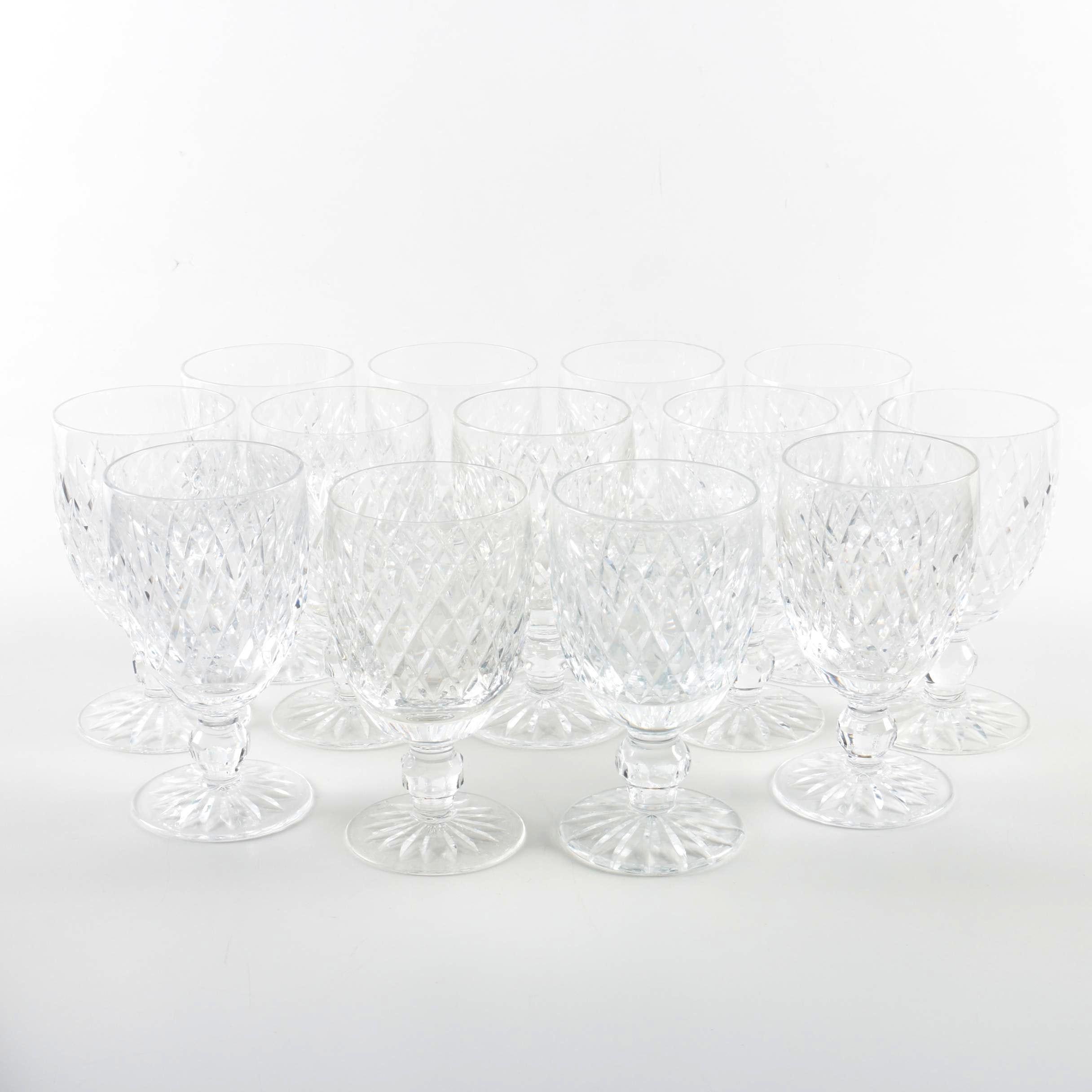 """Waterford Crystal """"Boyne"""" Cut Goblets"""