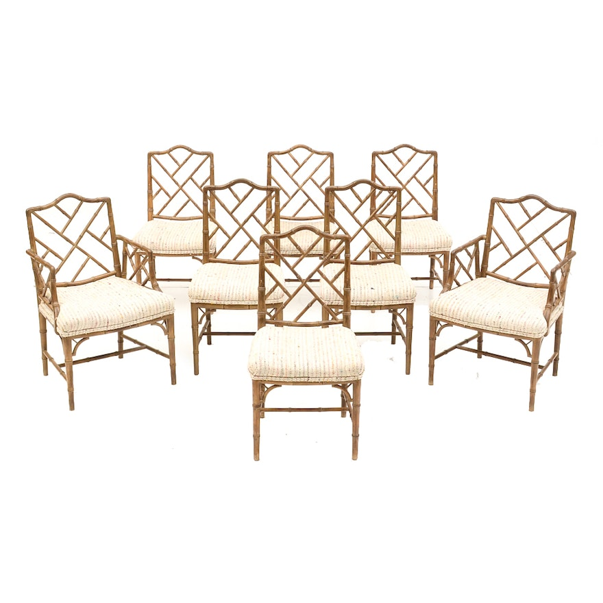 Hand Carved Spanish Bamboo Style Dining Room Chairs EBTH