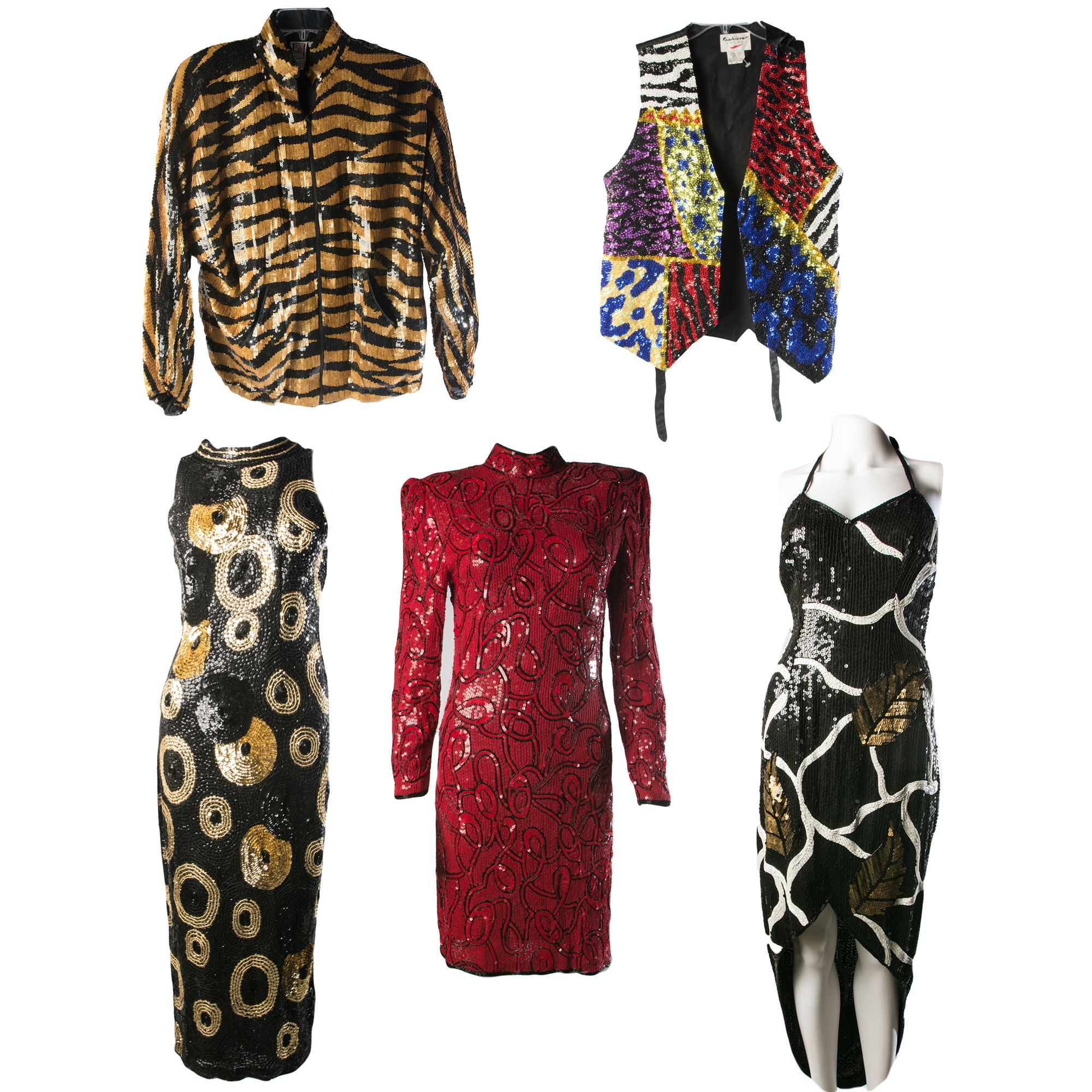 Women's Vintage Sequined Clothing