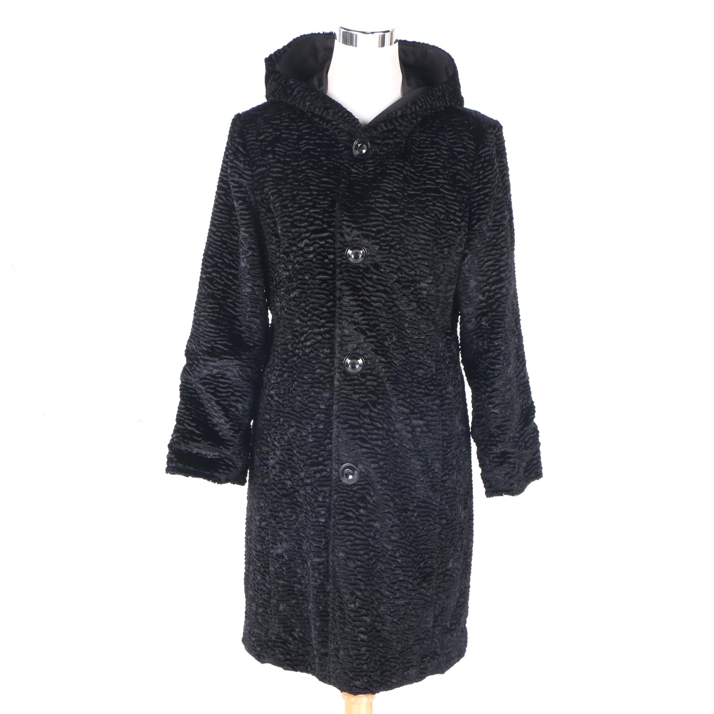 Ellen Tracy Reversible Faux Fur Coat