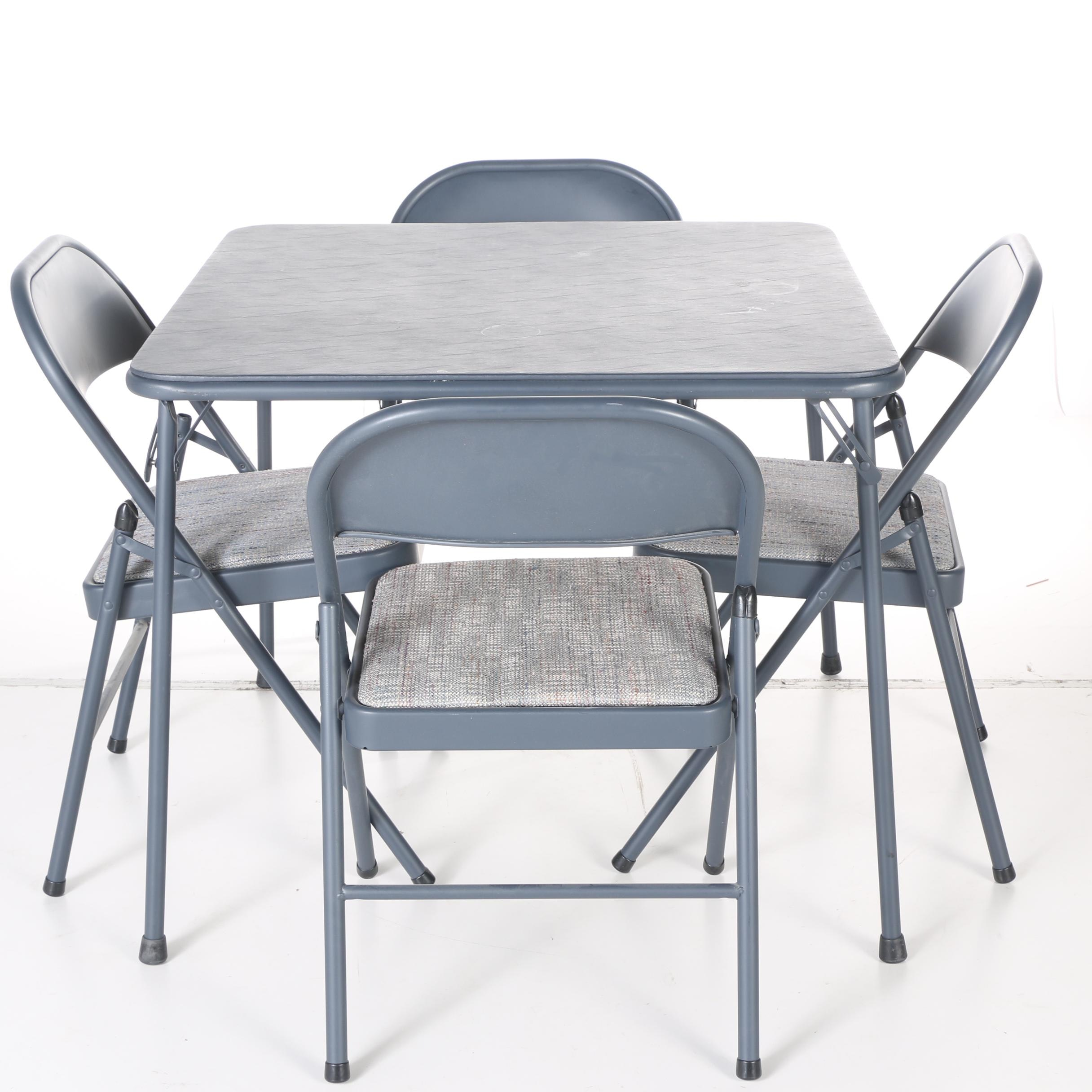 Card Table and Folding Chairs