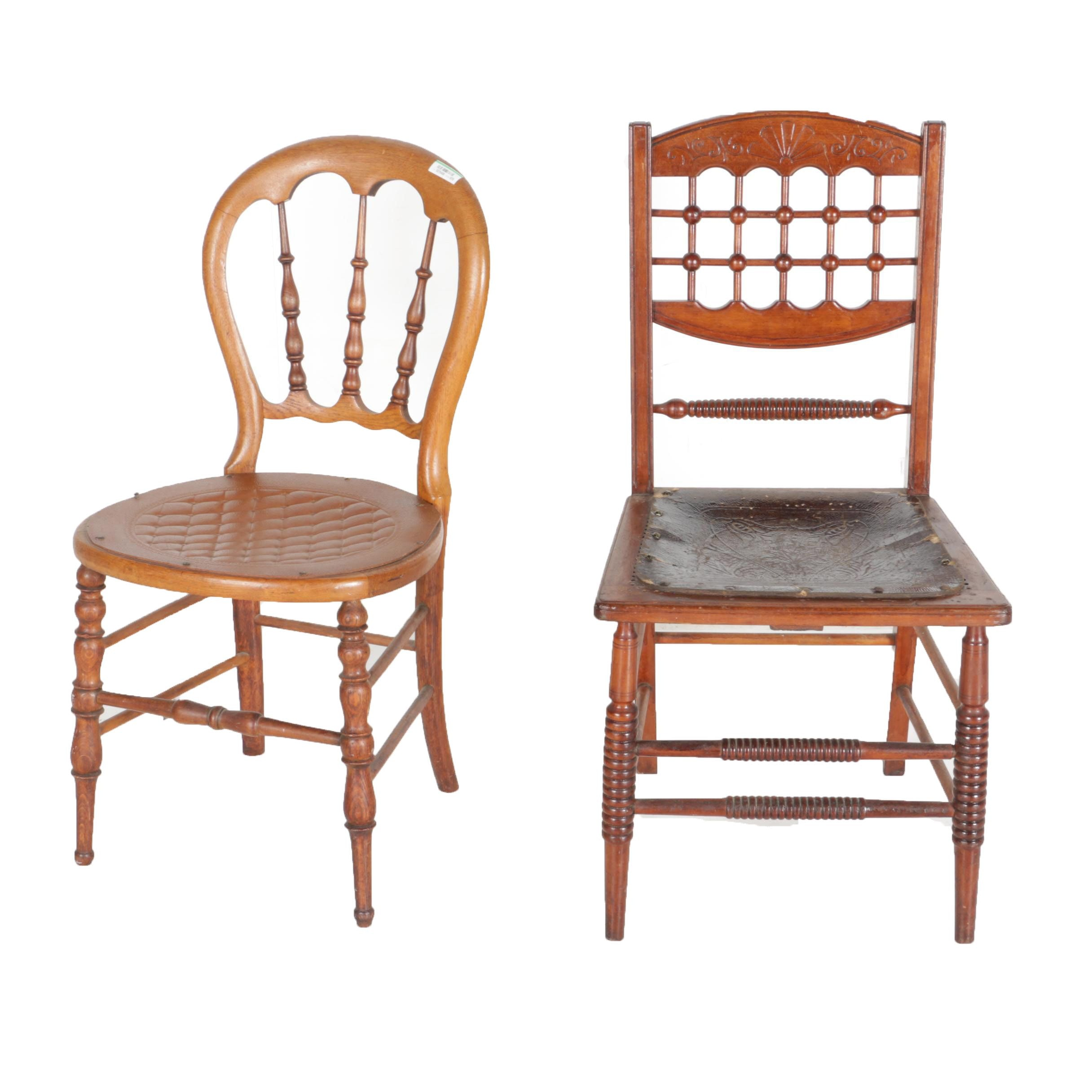 Wooden Cloth Seat Chairs