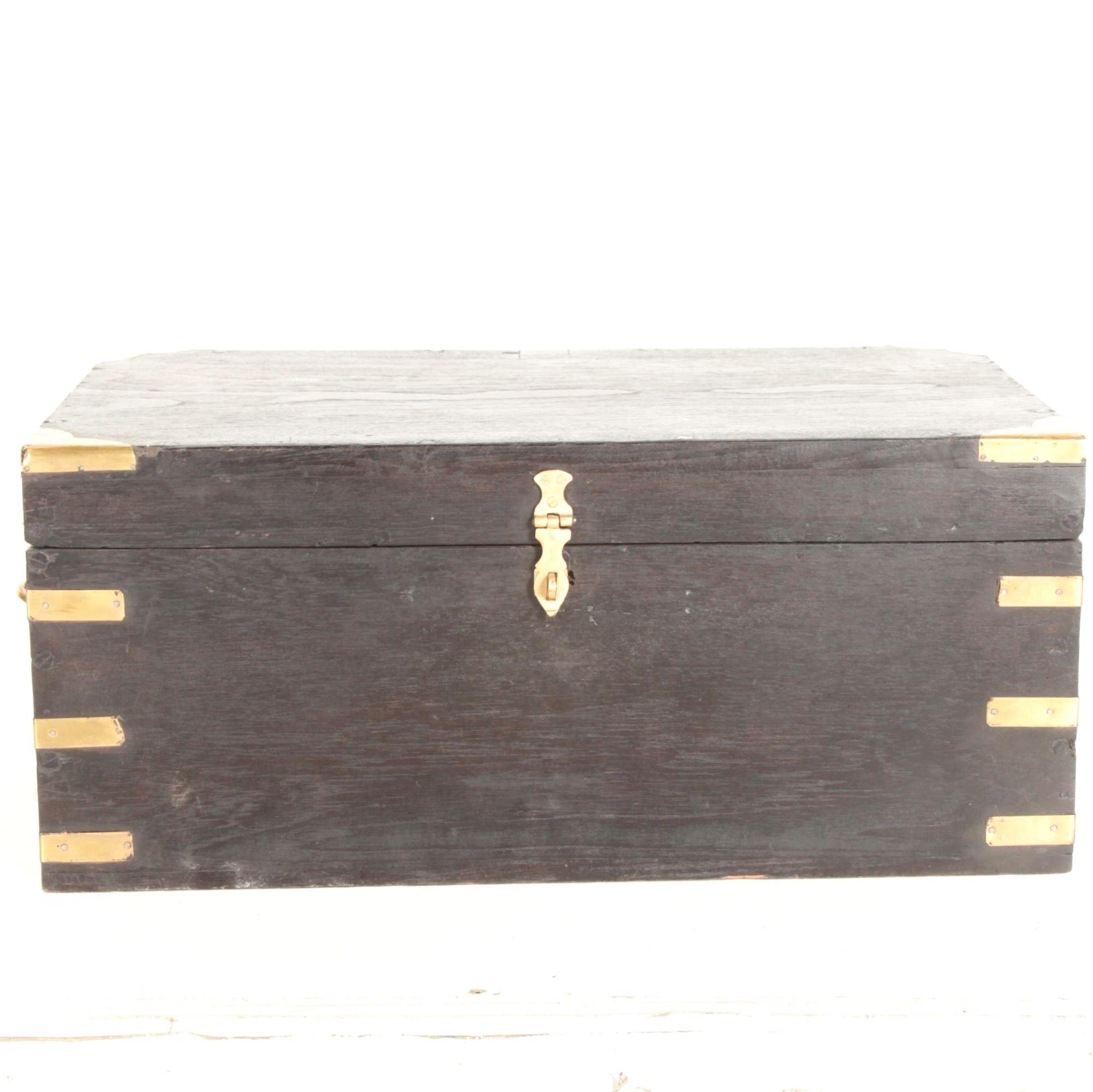 Black Wooden Trunk