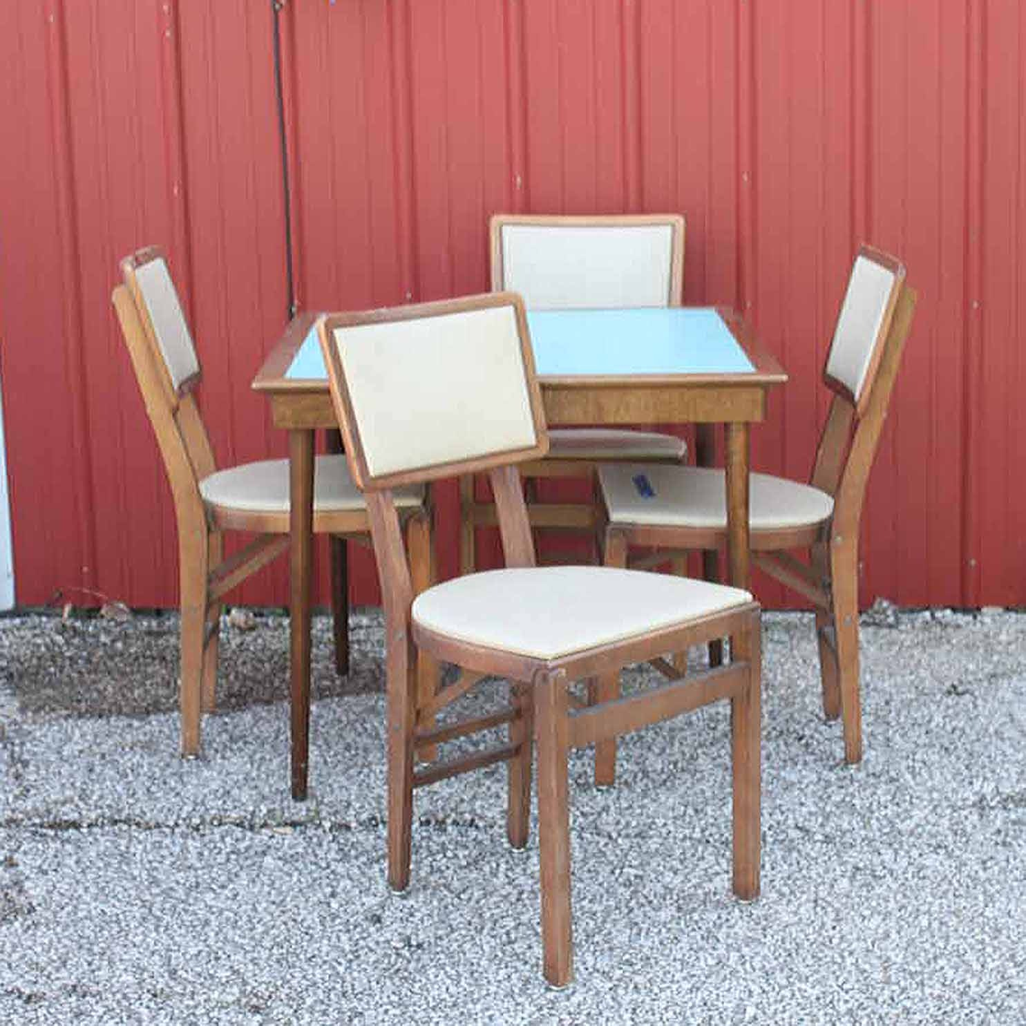 Vintage Folding Table and Chairs