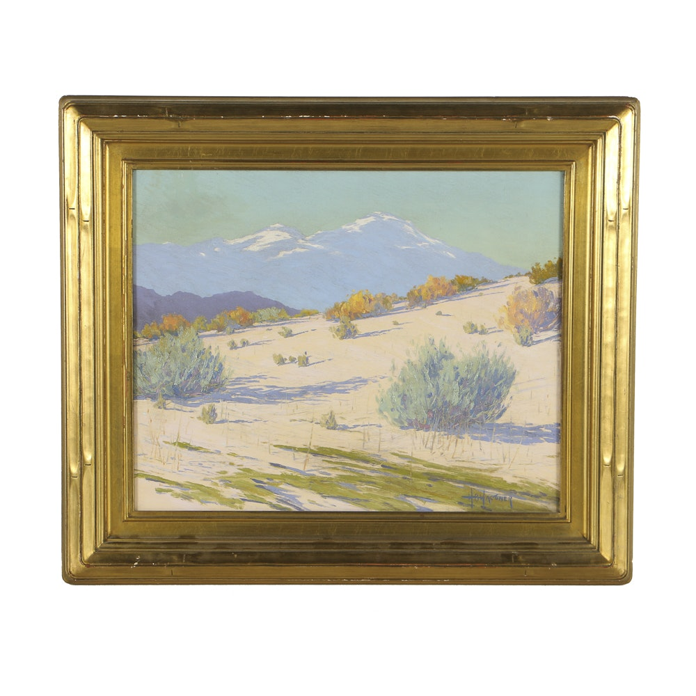 """Harry B. Wagoner Oil Painting on Canvas """"Sand and Silence"""""""