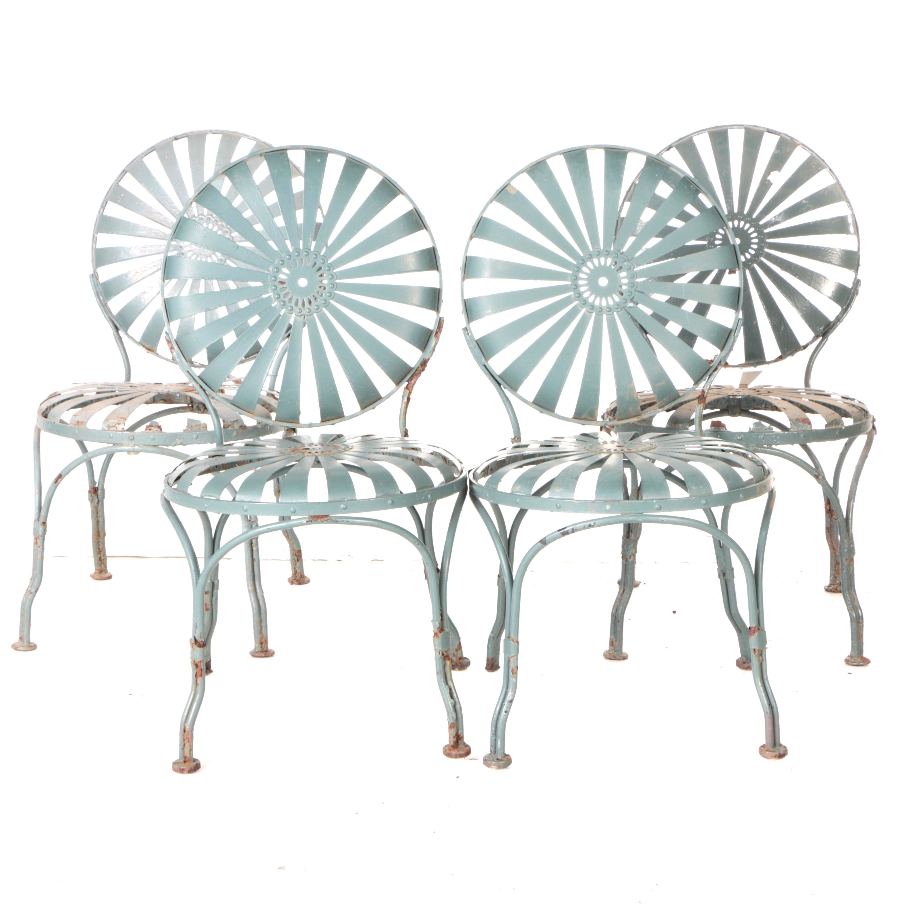 vintage carr sunburst metal patio chairs ebth rh ebth com