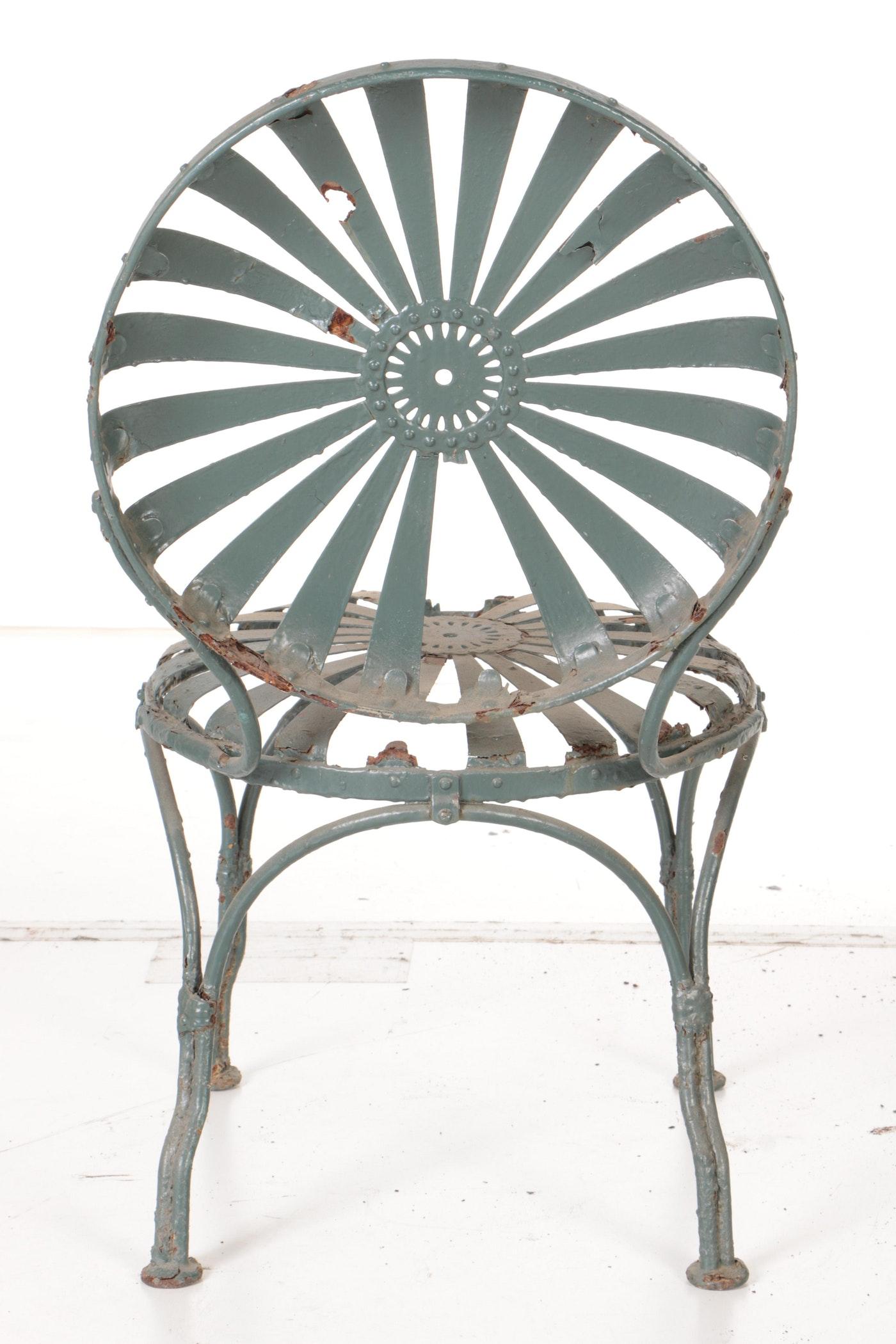 Vintage Carr 233 Quot Sunburst Quot Metal Patio Chairs Ebth