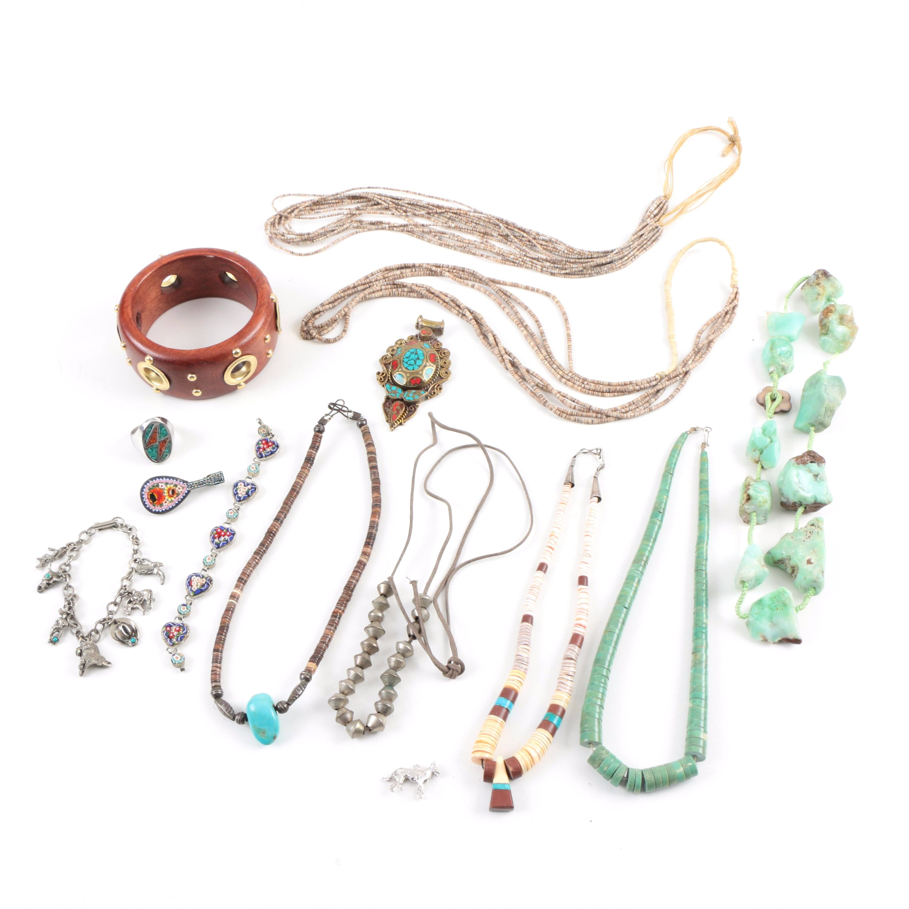 Assorted Jewelry Including an Italian Micro Mosaic Bracelet