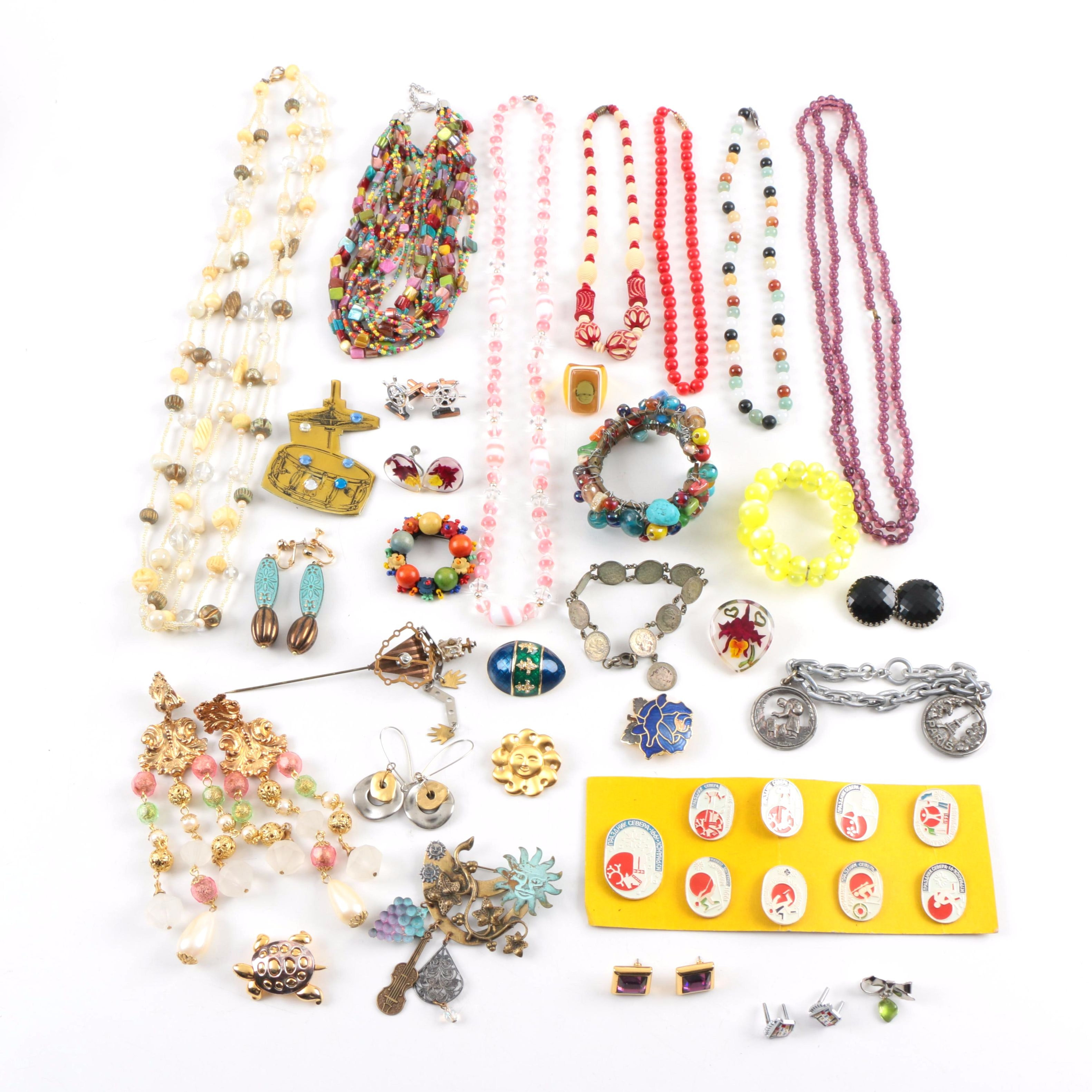 Generous Assortment of Colorful Costume Jewelry