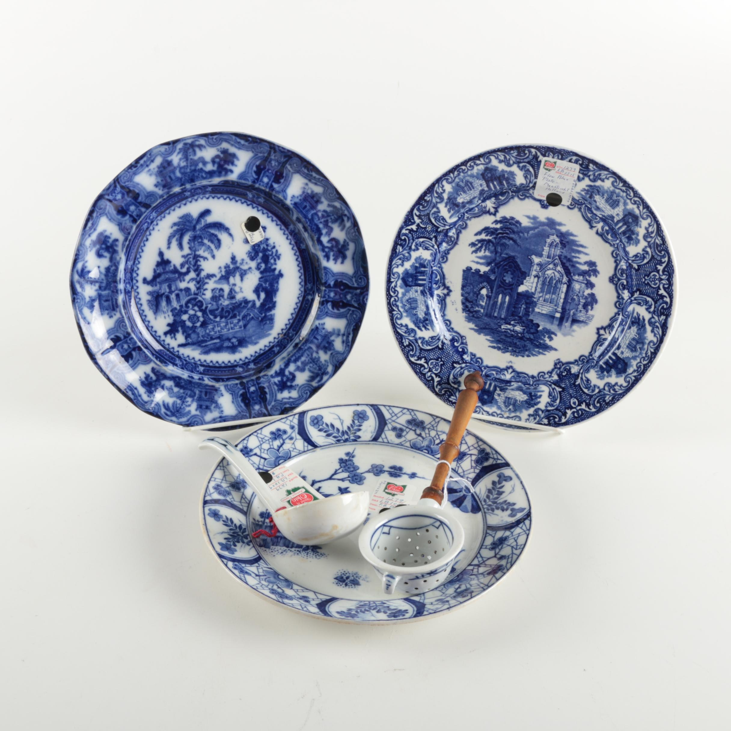 "Blue and White China Including Adams ""Kyber"" and Petrus Ragout Maastricht"