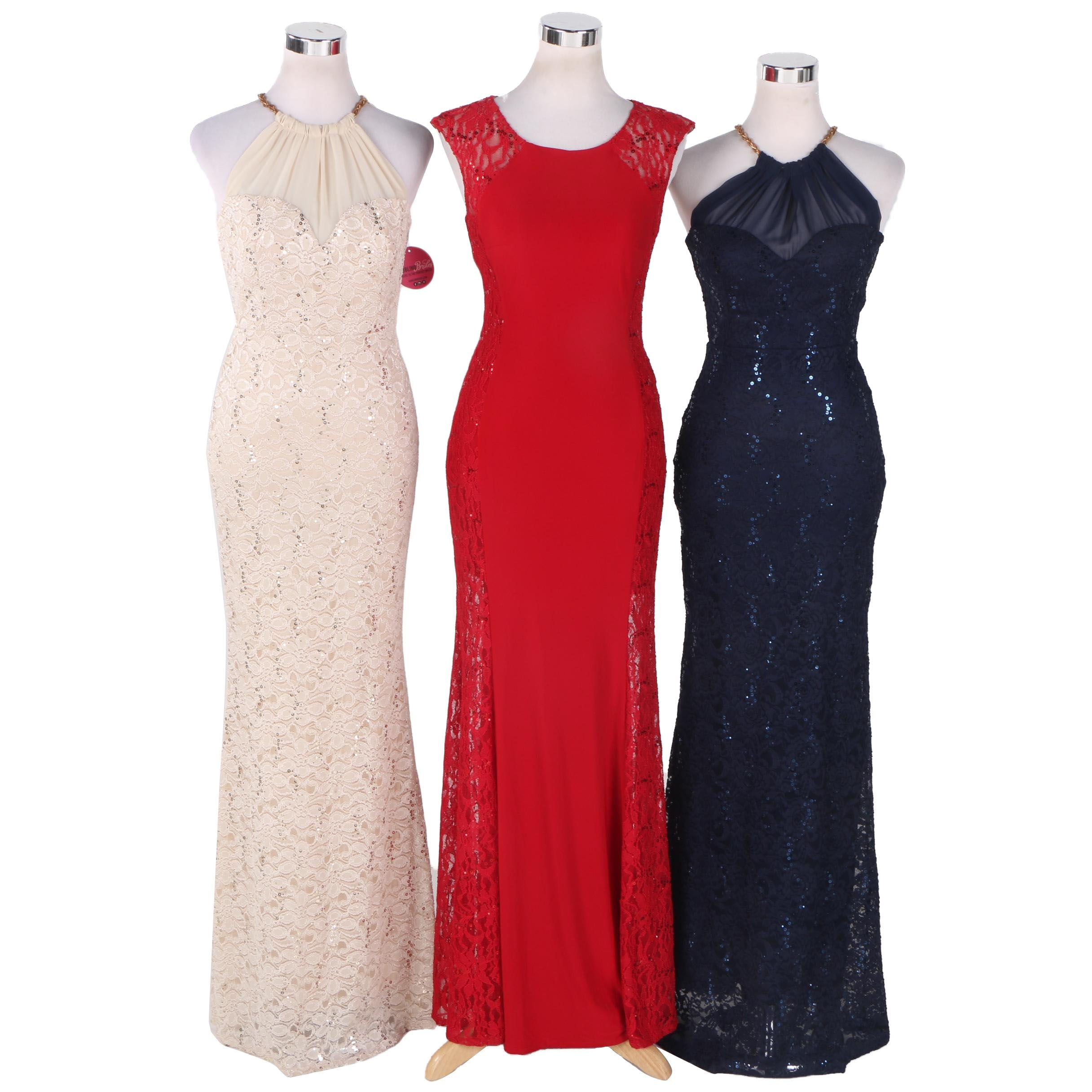 Three Women's Evening Dresses Including Maria Christina