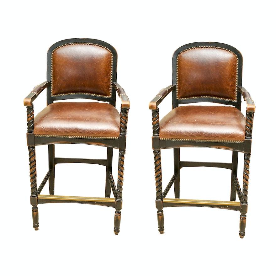Awe Inspiring Pair Of Bar Stools By Vanguard Furniture Alphanode Cool Chair Designs And Ideas Alphanodeonline