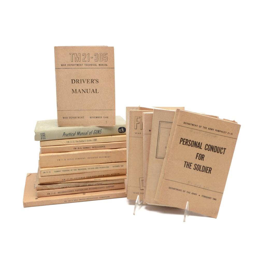 Set of Vintage Army Manuals