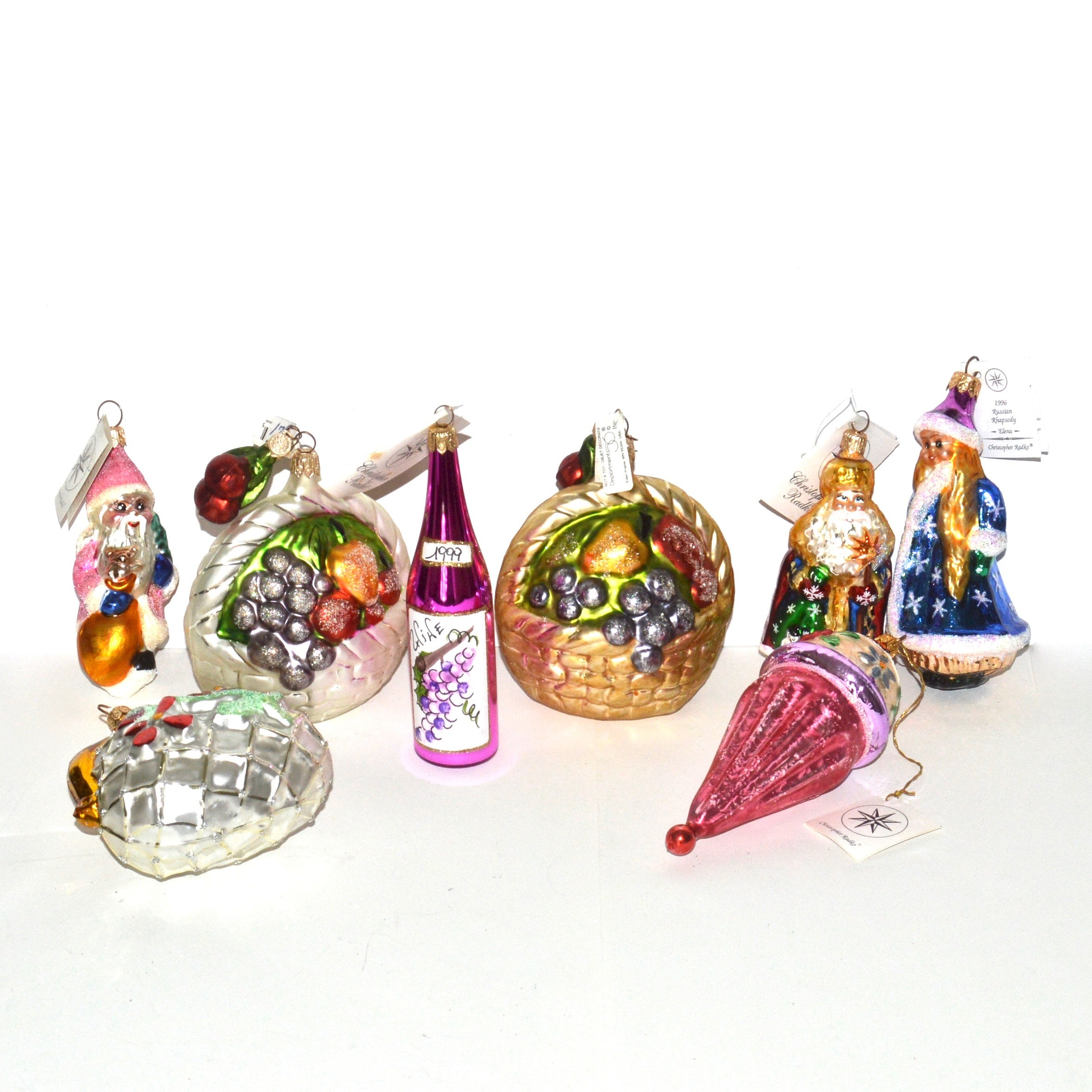 Christopher Radko Hand-Painted Ornaments and Department 56 Ornaments