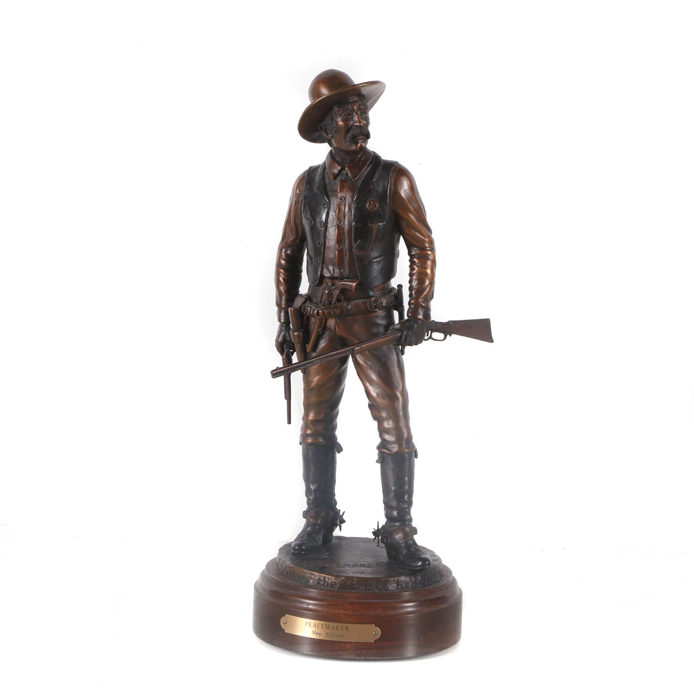 """Cary Clawson Limited Edition Bronze Sculpture """"The Peacemaker"""""""