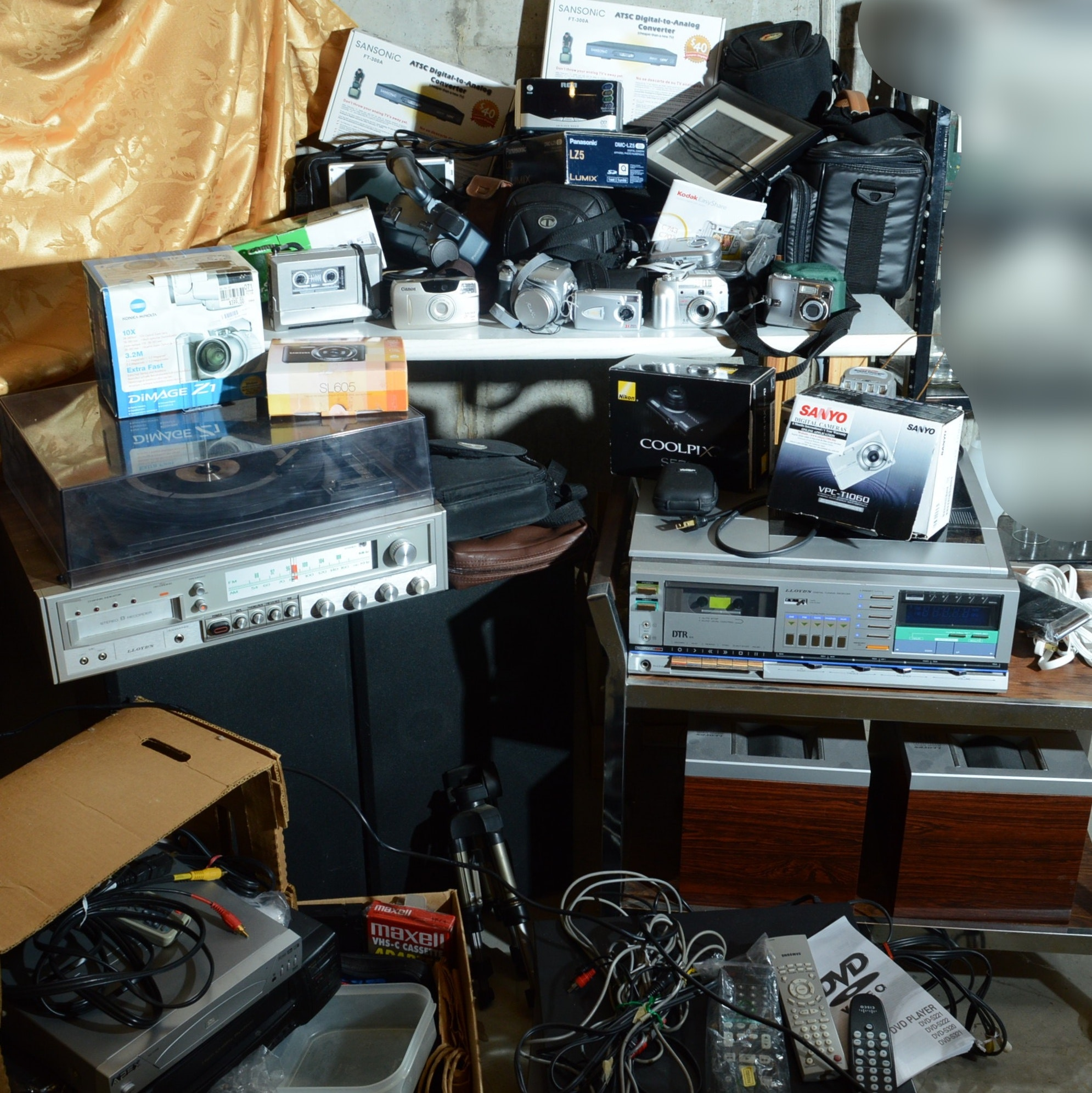 Vintage Stereo Components, Camera and Other Electronics