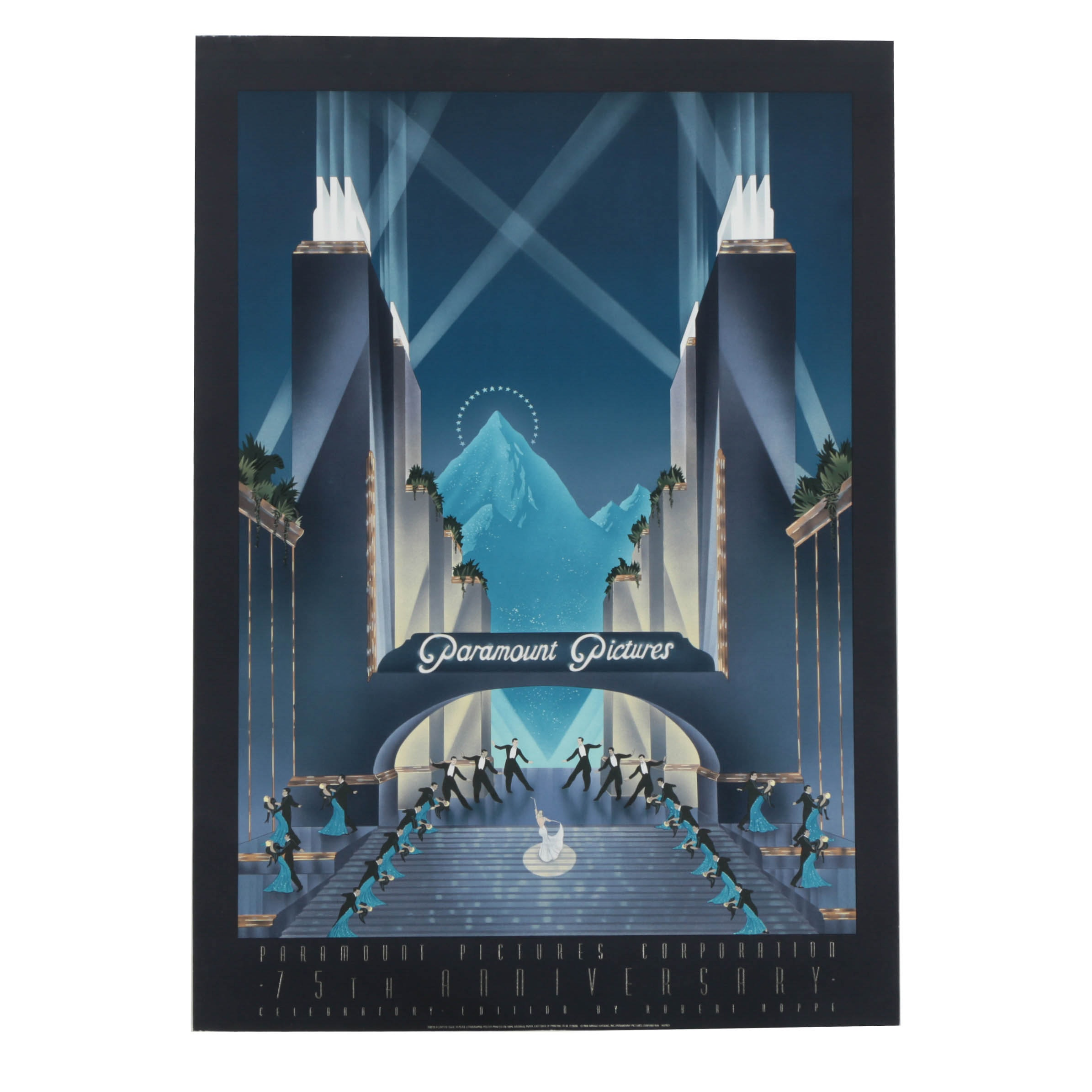 """Robert Hoppe Limited Edition Lithograph Poster """"Paramount Pictures"""""""