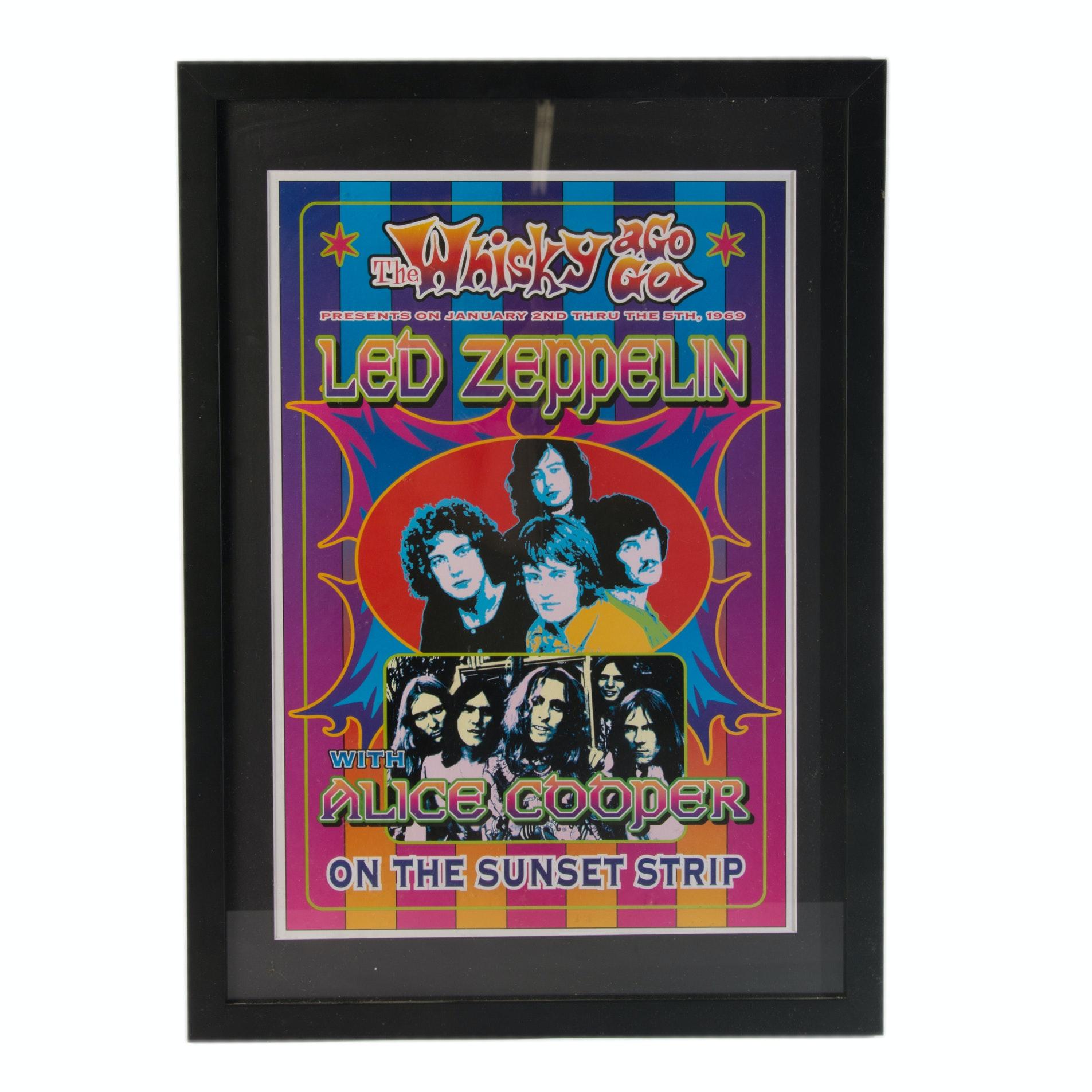 Led Zeppelin Whiskey A Go-Go Poster