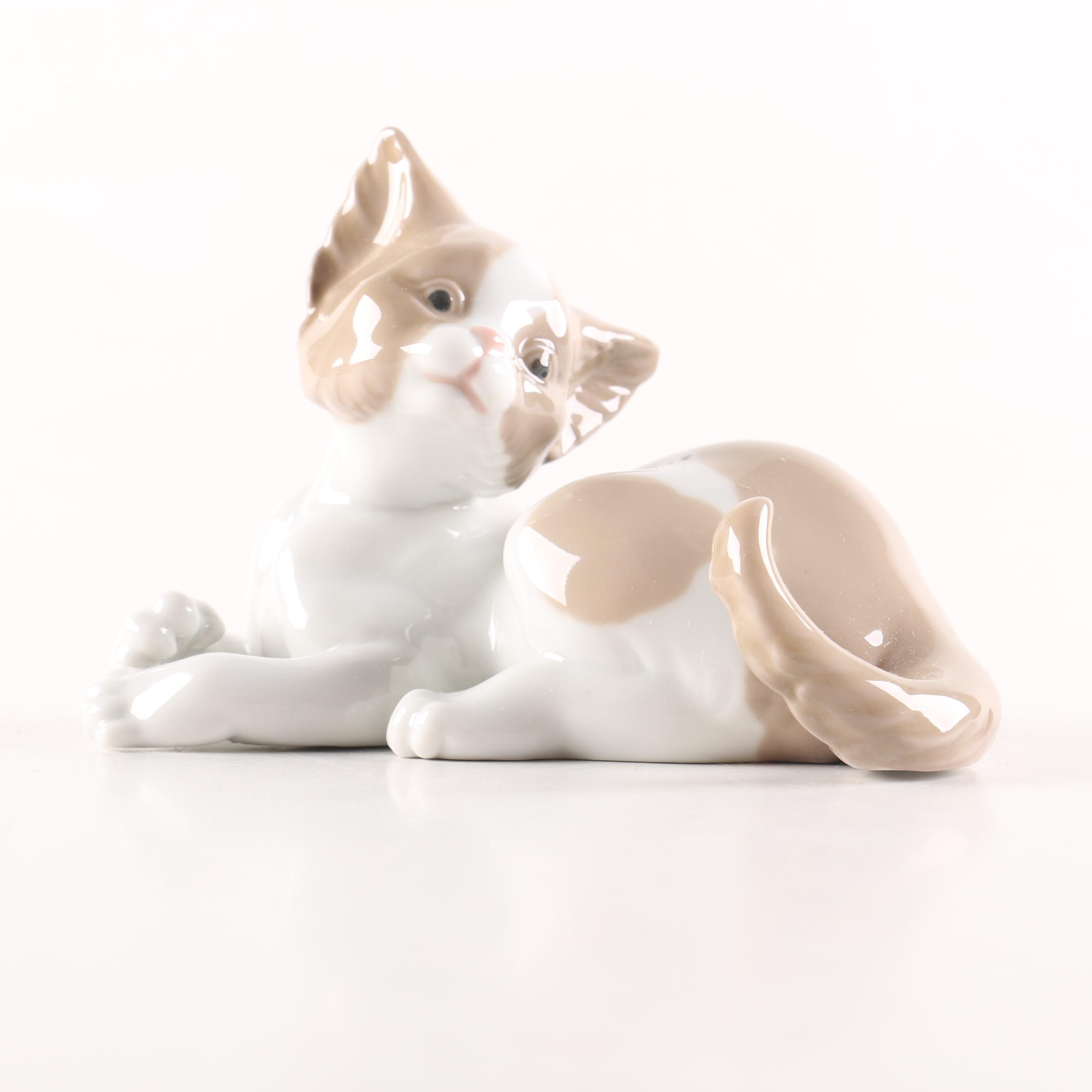 """Lladró """"Surprised Cat"""" Figurine"""