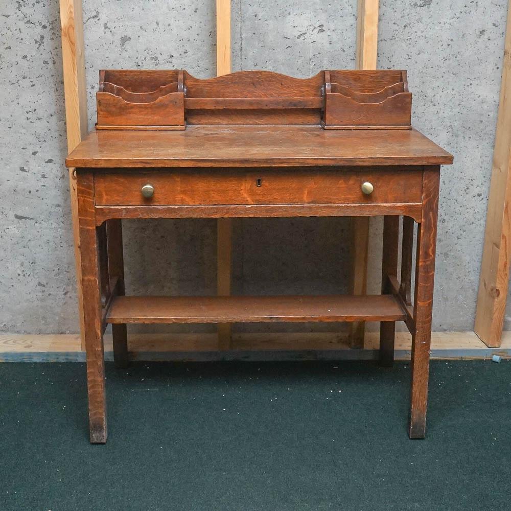 Vintage Quarter Sawn Oak Desk