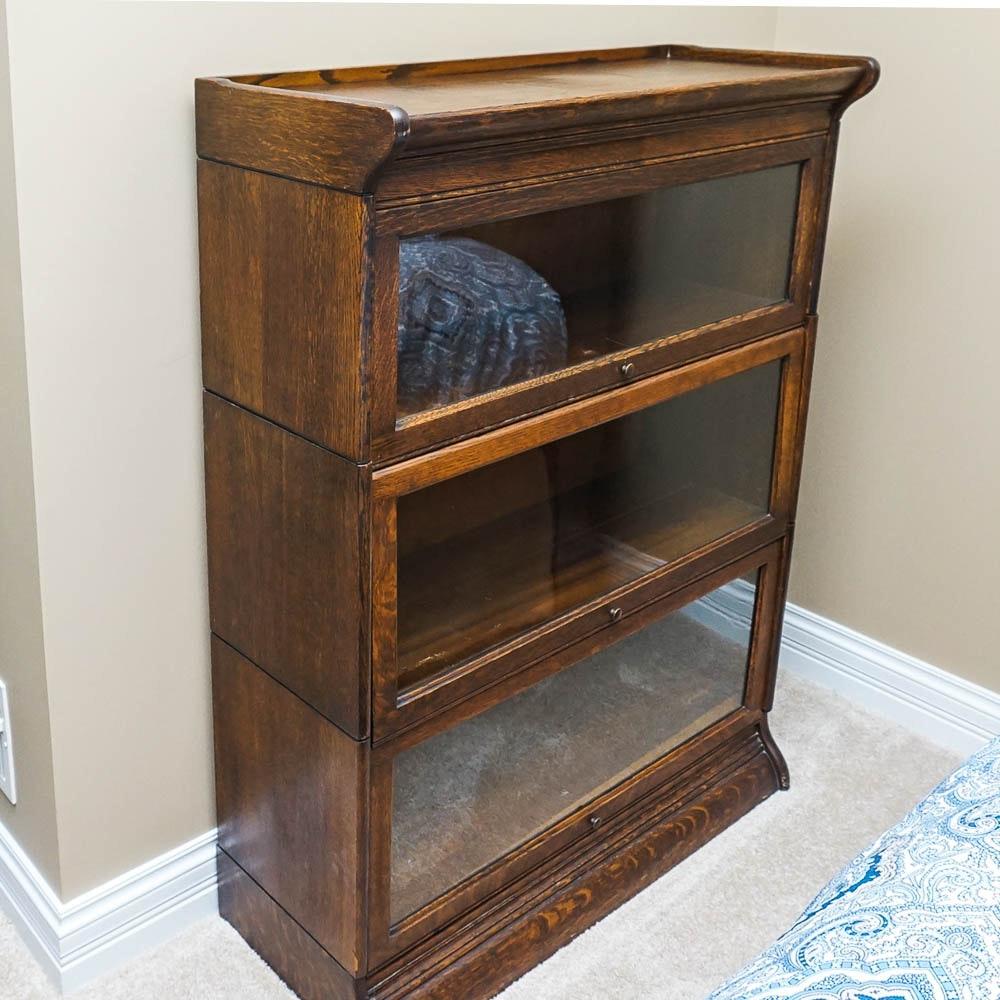 Vintage Oak Barrister Bookcase