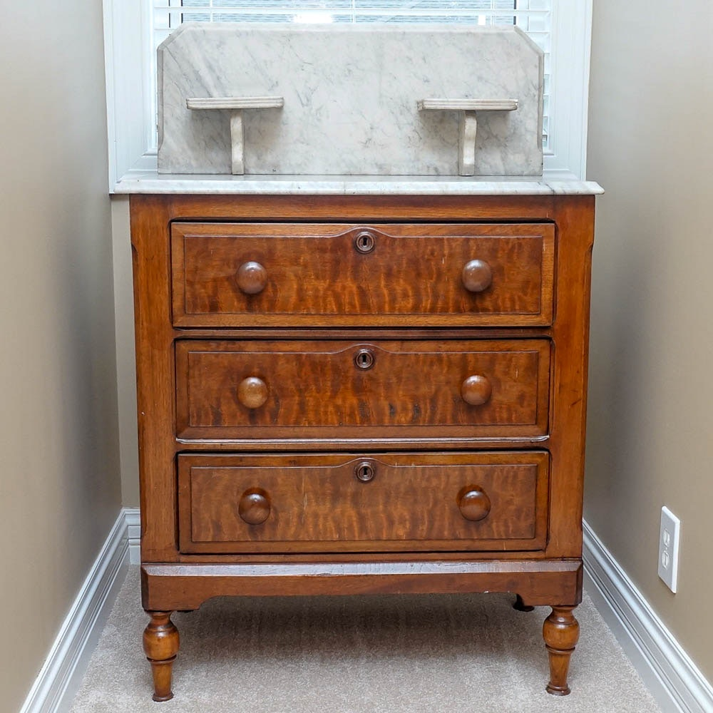 Antique Wash Stand with Marble Top