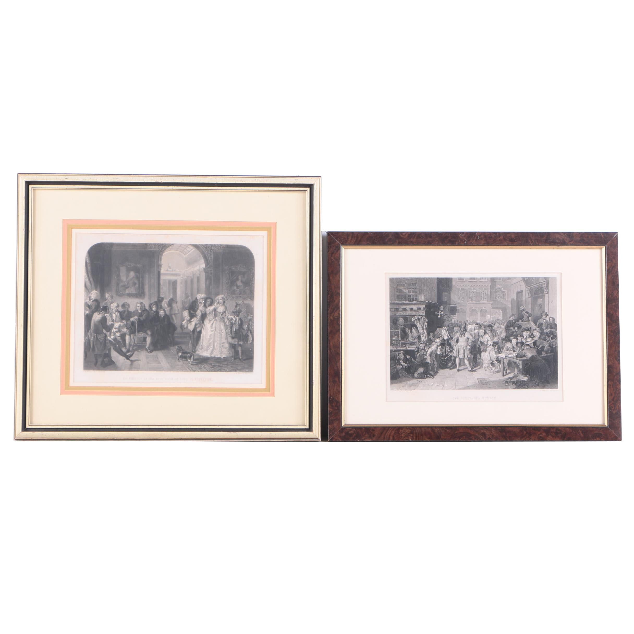 J. Carter and C.W. Sharpe Engravings on Paper