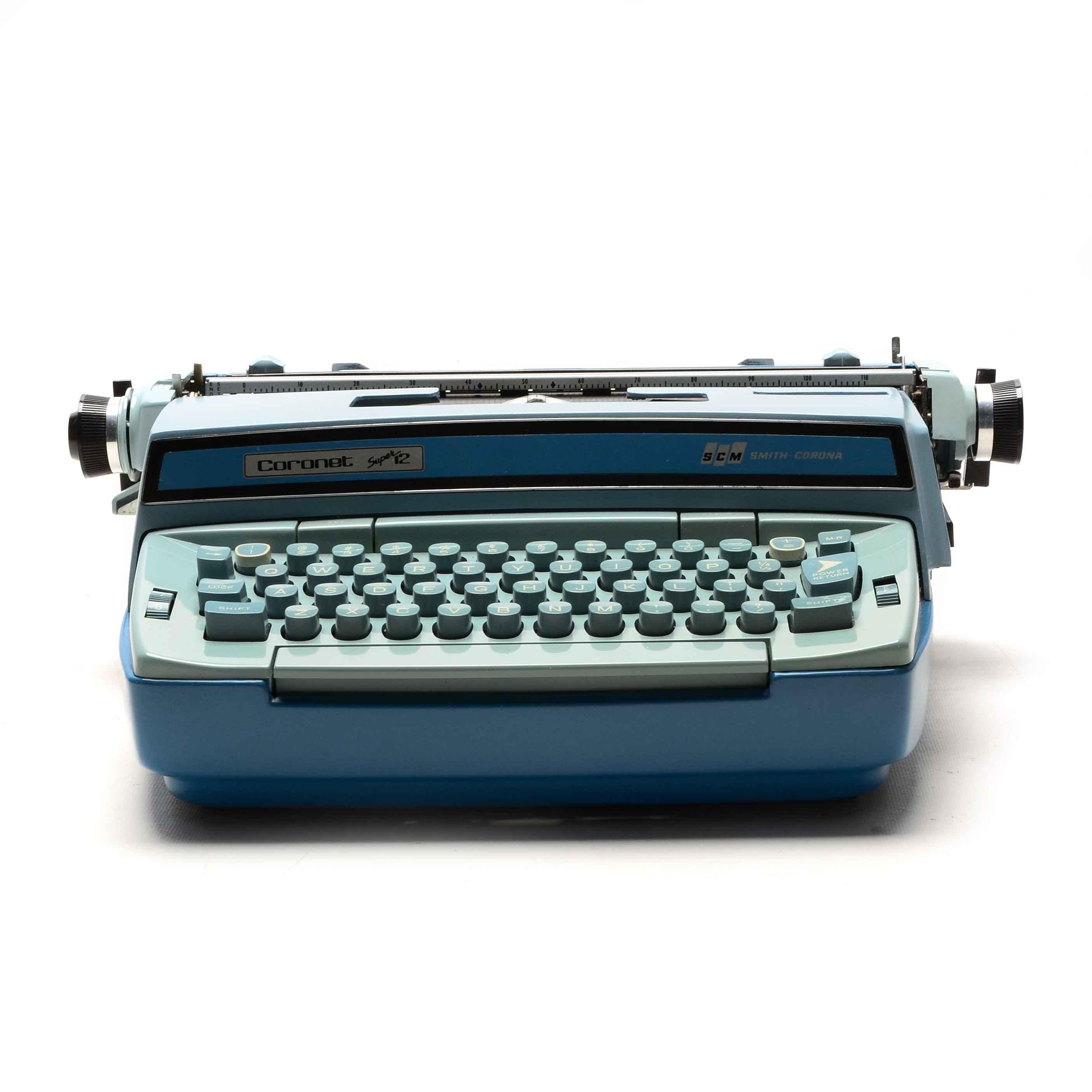 "Smith-Corona ""Coronet Super 12"" Electric Typewriter with Case"
