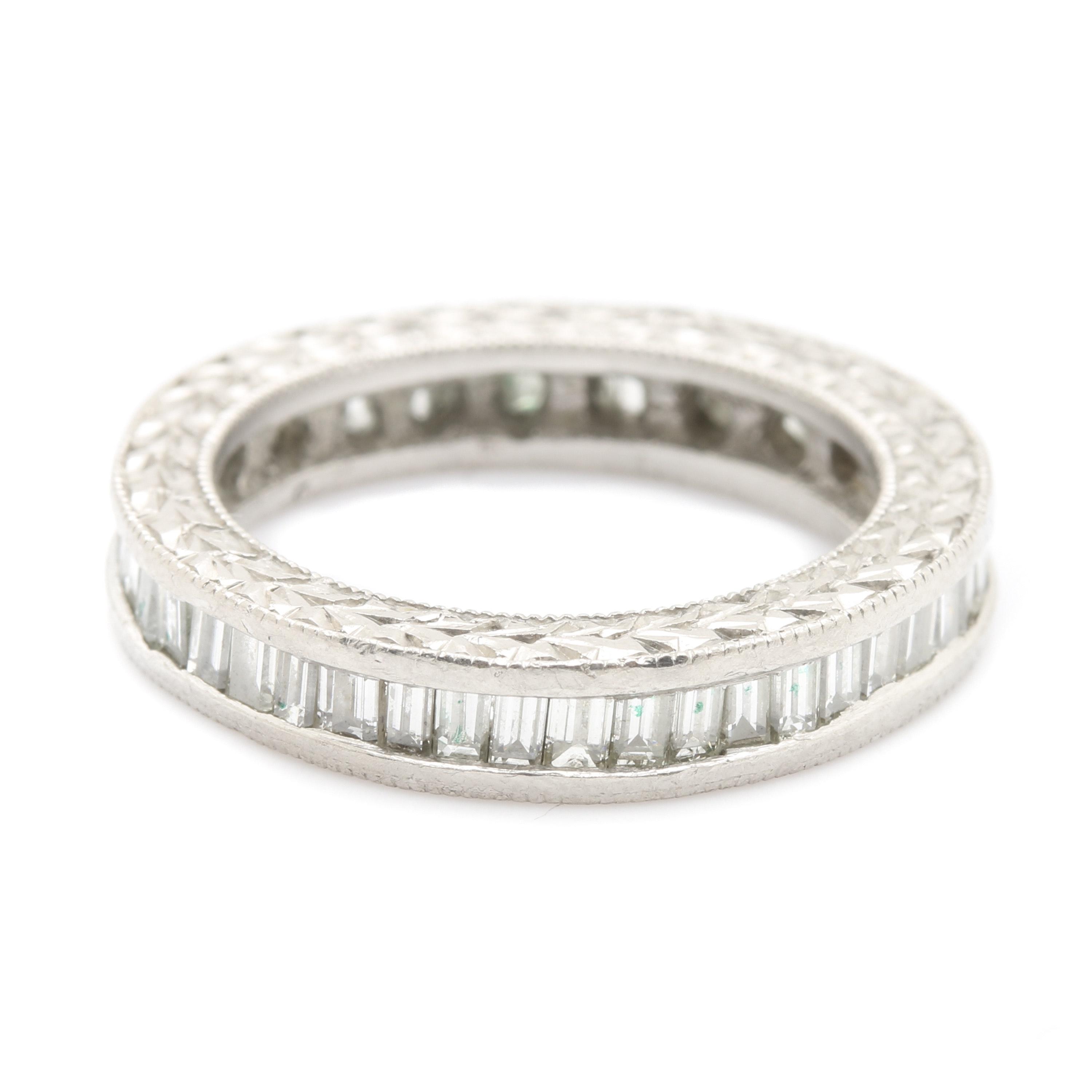Platinum Diamond Eternity Band
