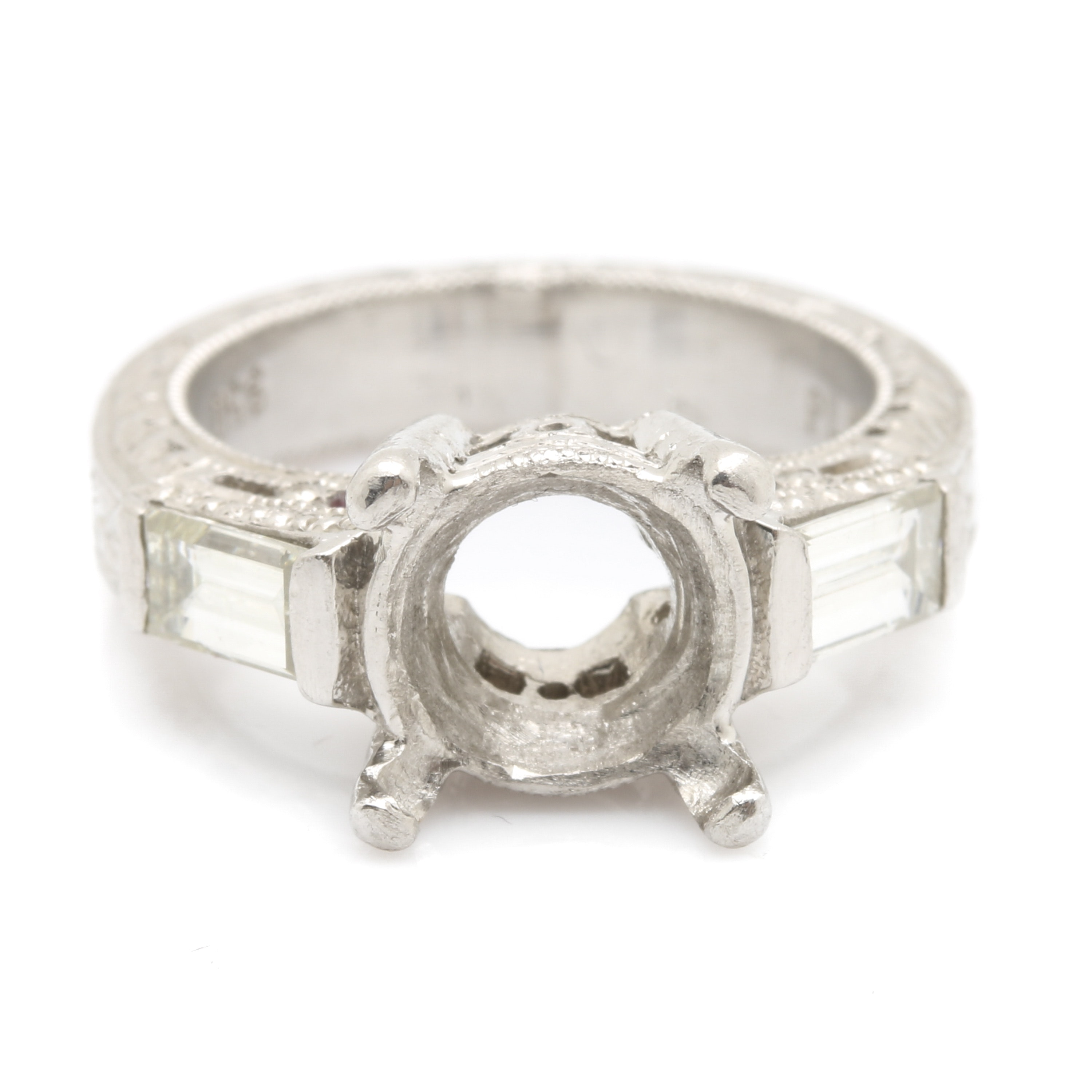 Platinum and Diamond Ring Semi Mounting