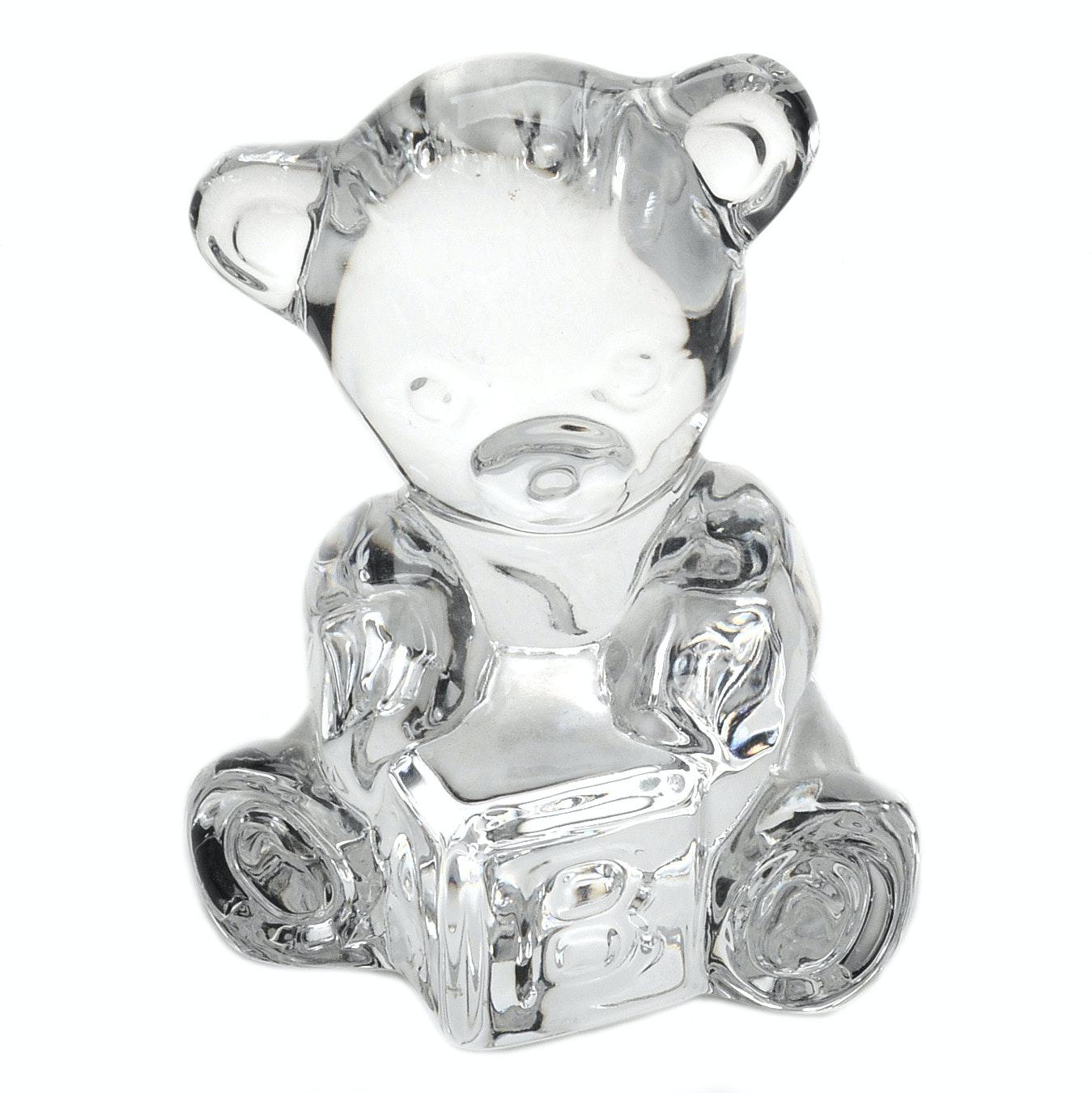 Waterford Crystal Teddy Bear Figure
