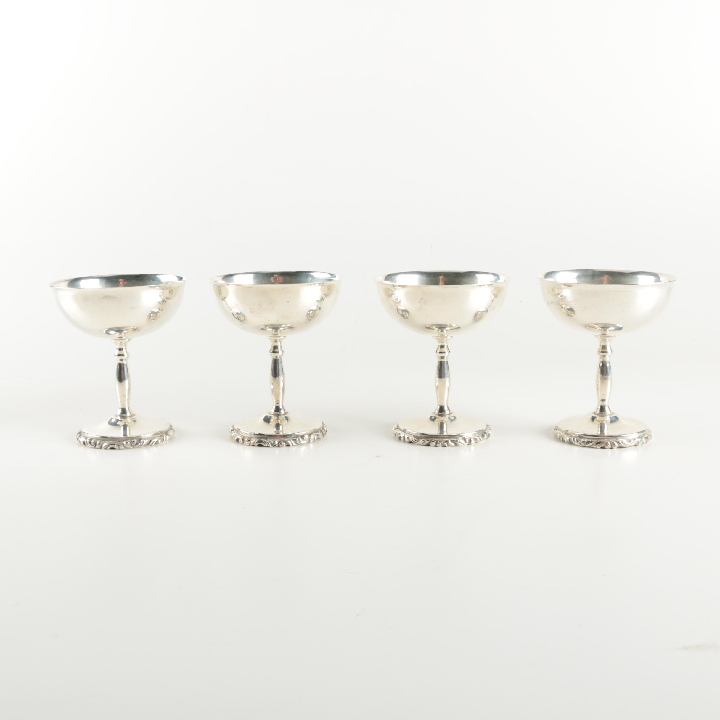 Juvento Lopez Reyes Mexican Sterling Silver Champagne Coupes