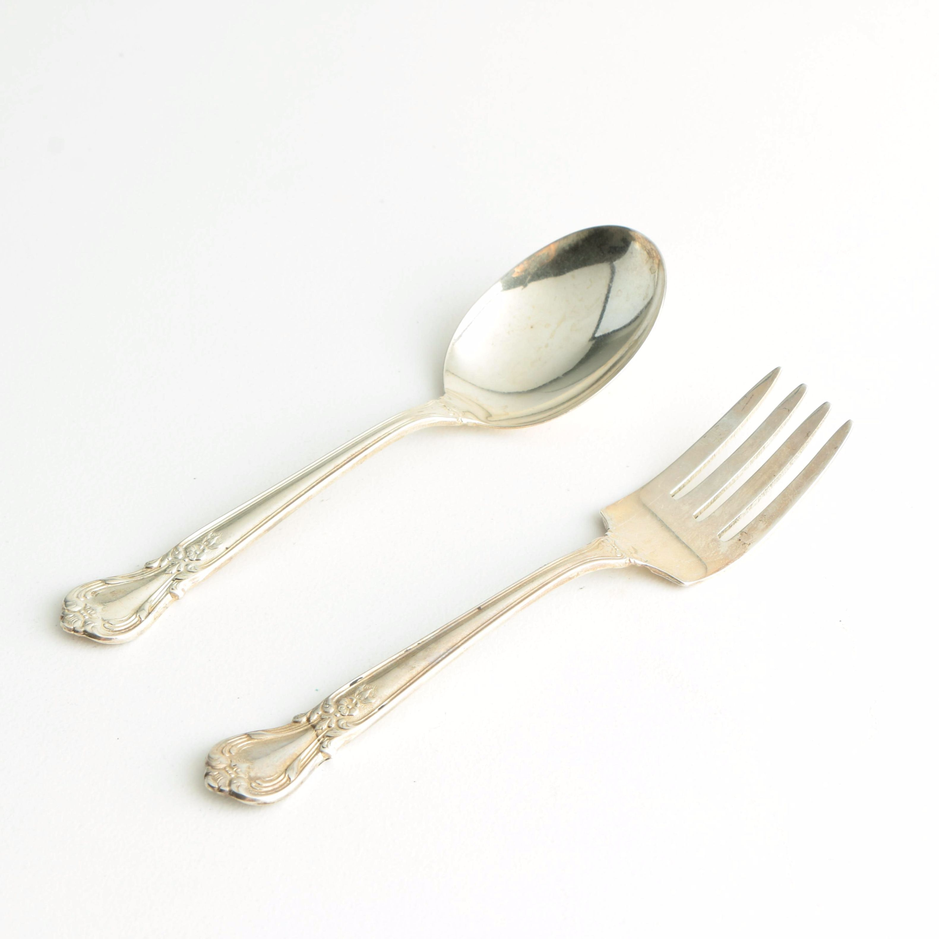 "Weidlich ""Ancestry"" Sterling Silver Fork and Spoon"