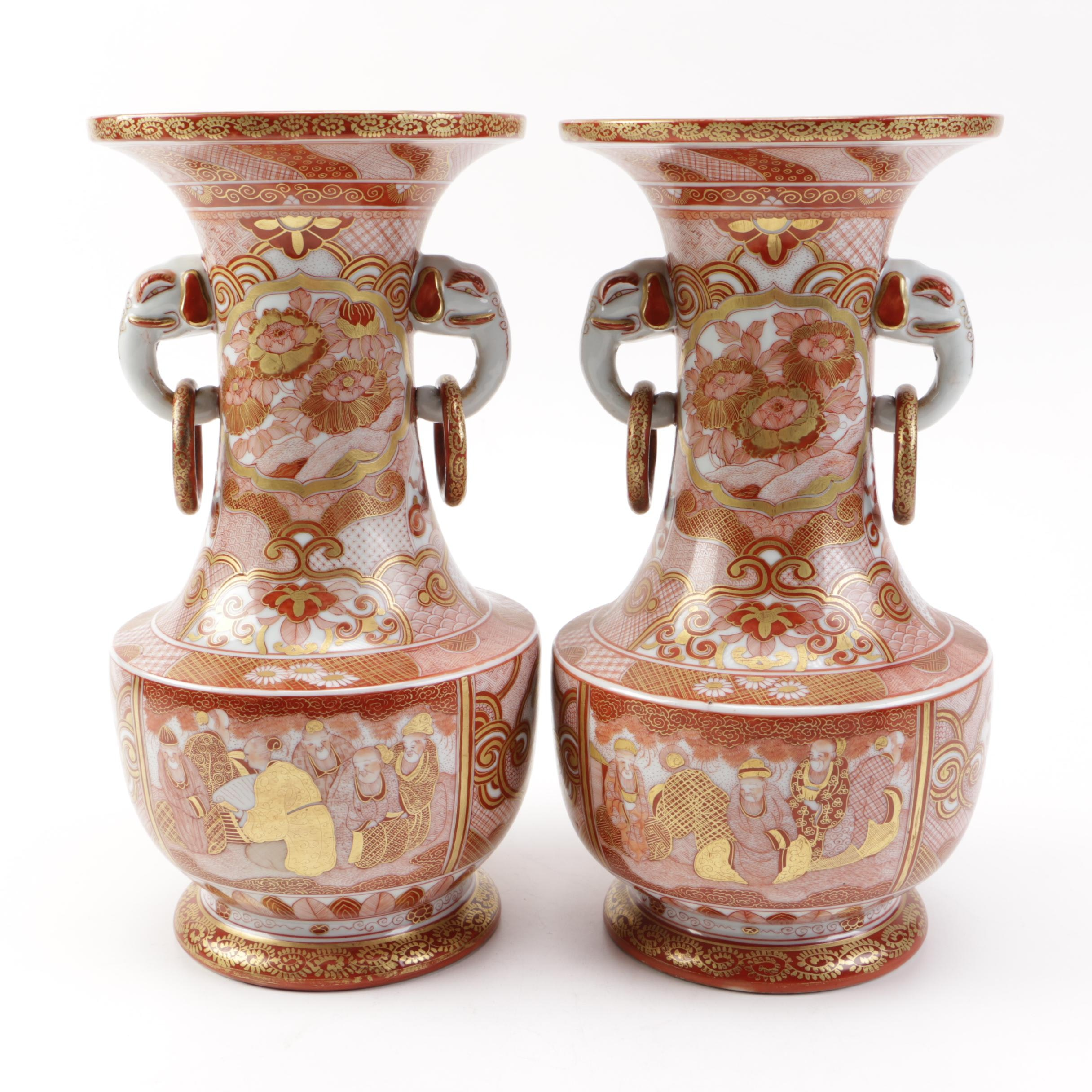 Pair of East Asian Porcelain Vases