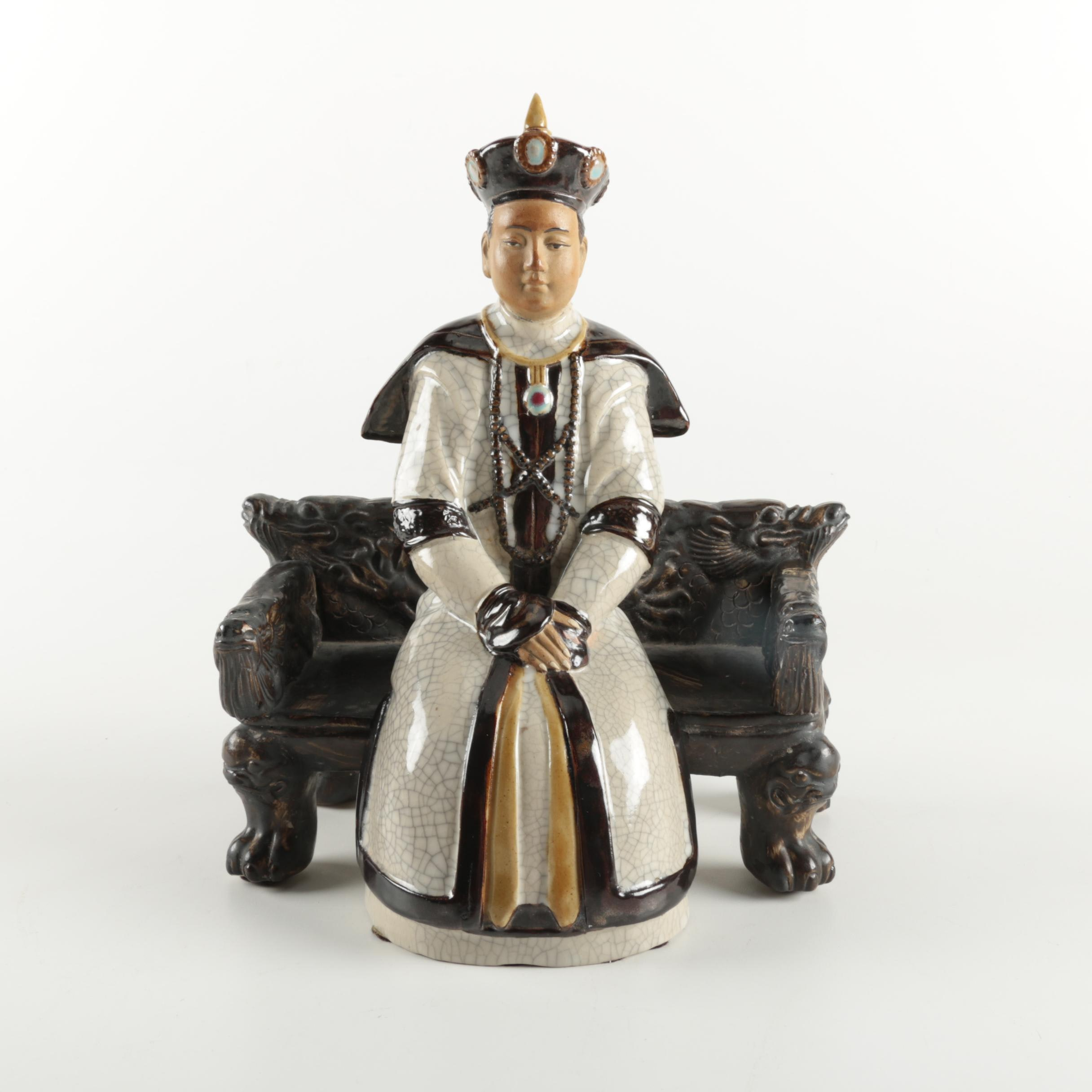 Chinese Sitting Man Figurine