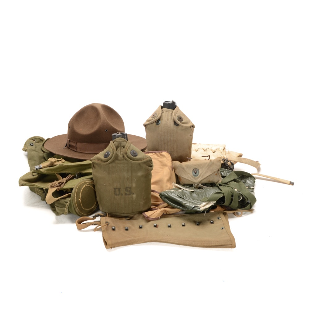 Group of Vintage Military Gear