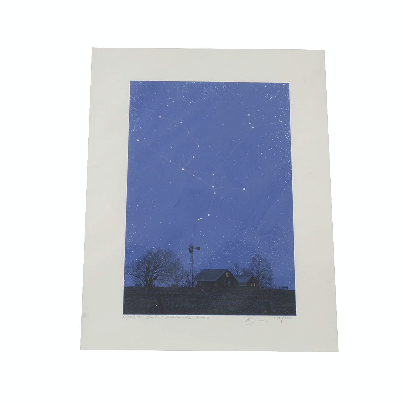 "Dan McCarthy Signed Limited Edition Glow-in-the-Dark Serigraph ""Andromeda"""