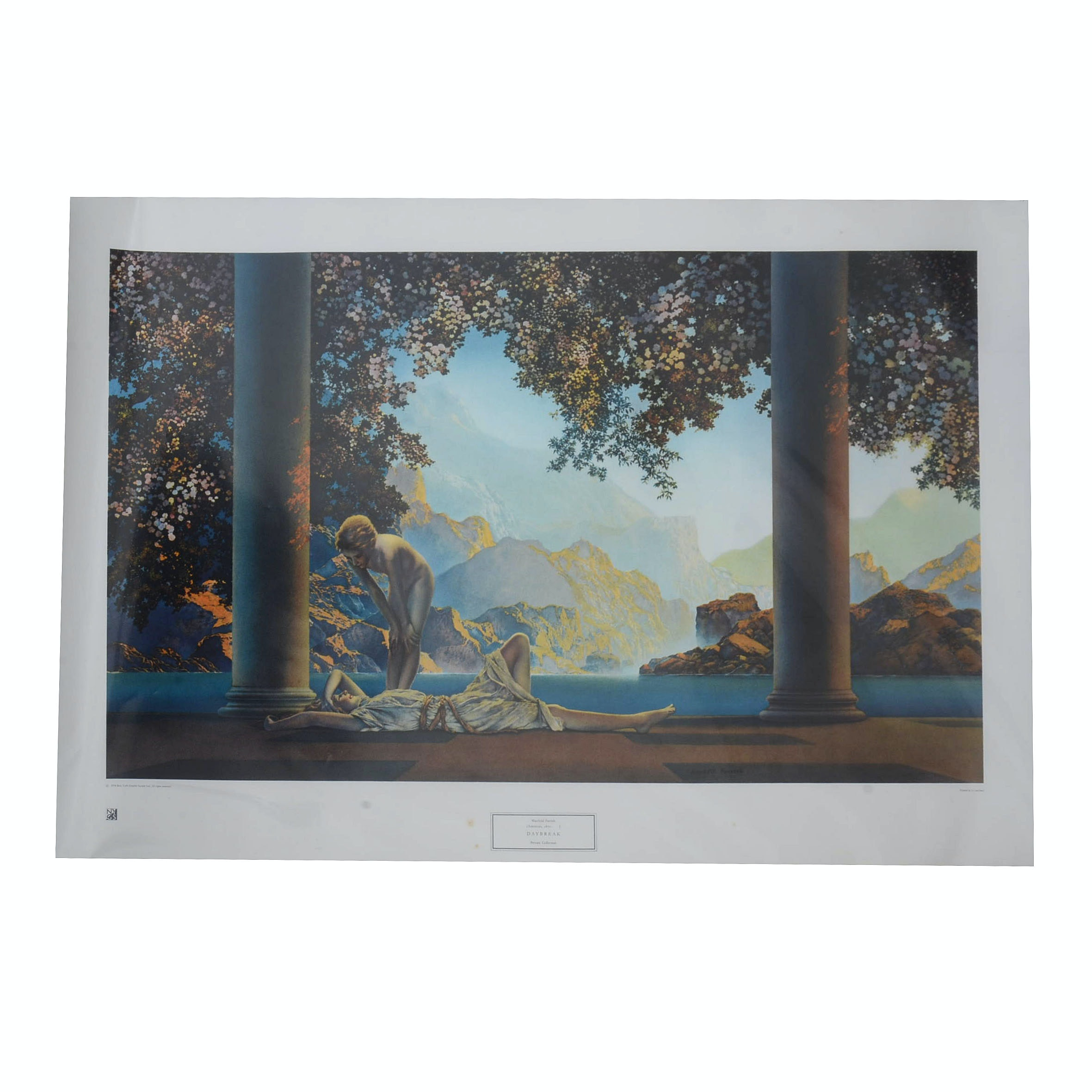 """Giclee Poster After Maxfield Parrish's """"Daybreak"""""""
