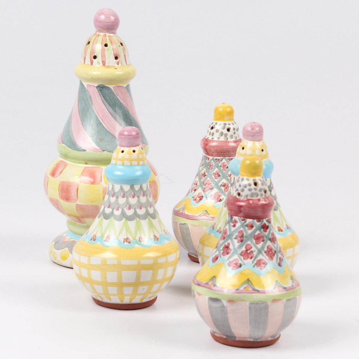 Mackenzie-Childs Pottery Tableware Shakers
