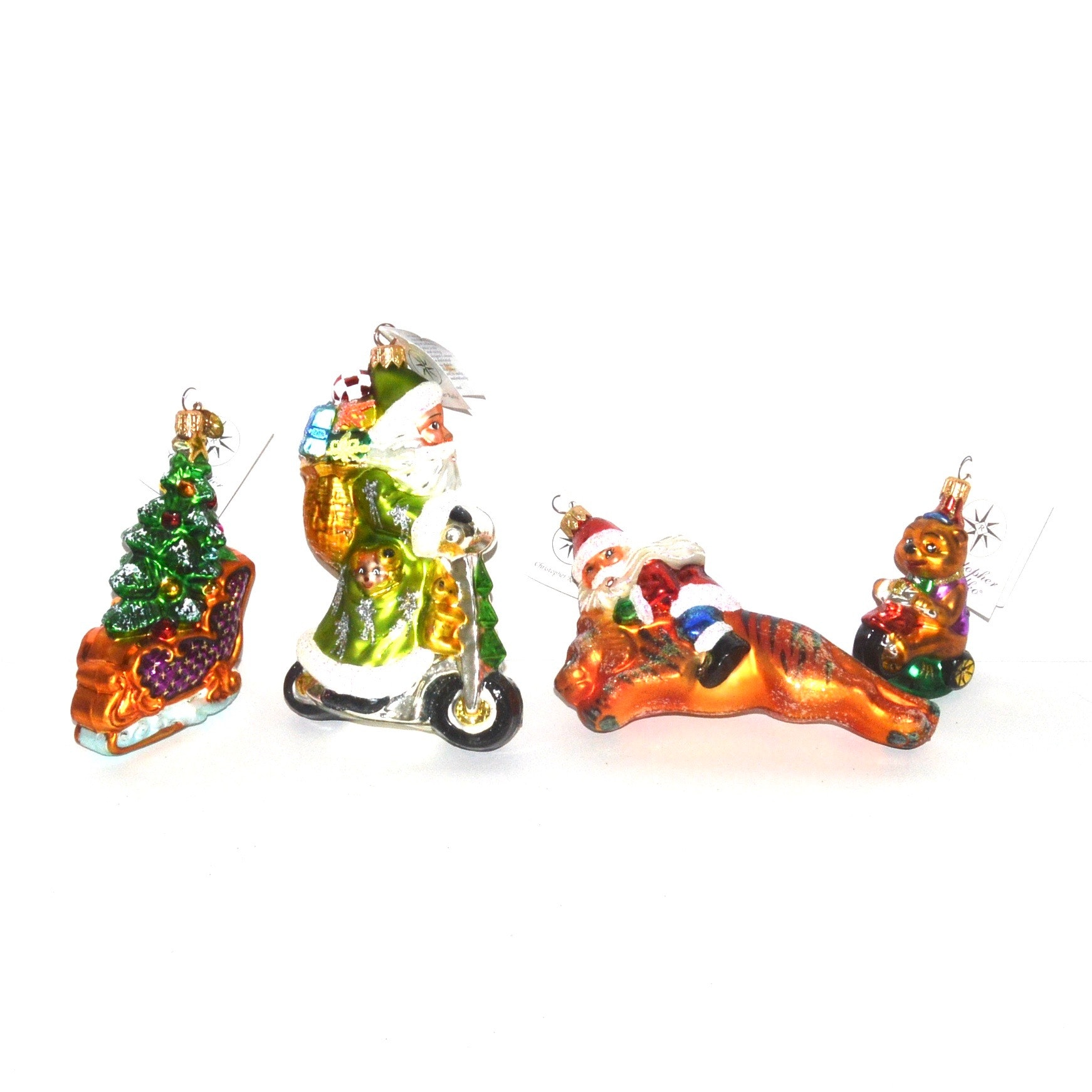 Christopher Radko Hand-Painted Glass Ornaments
